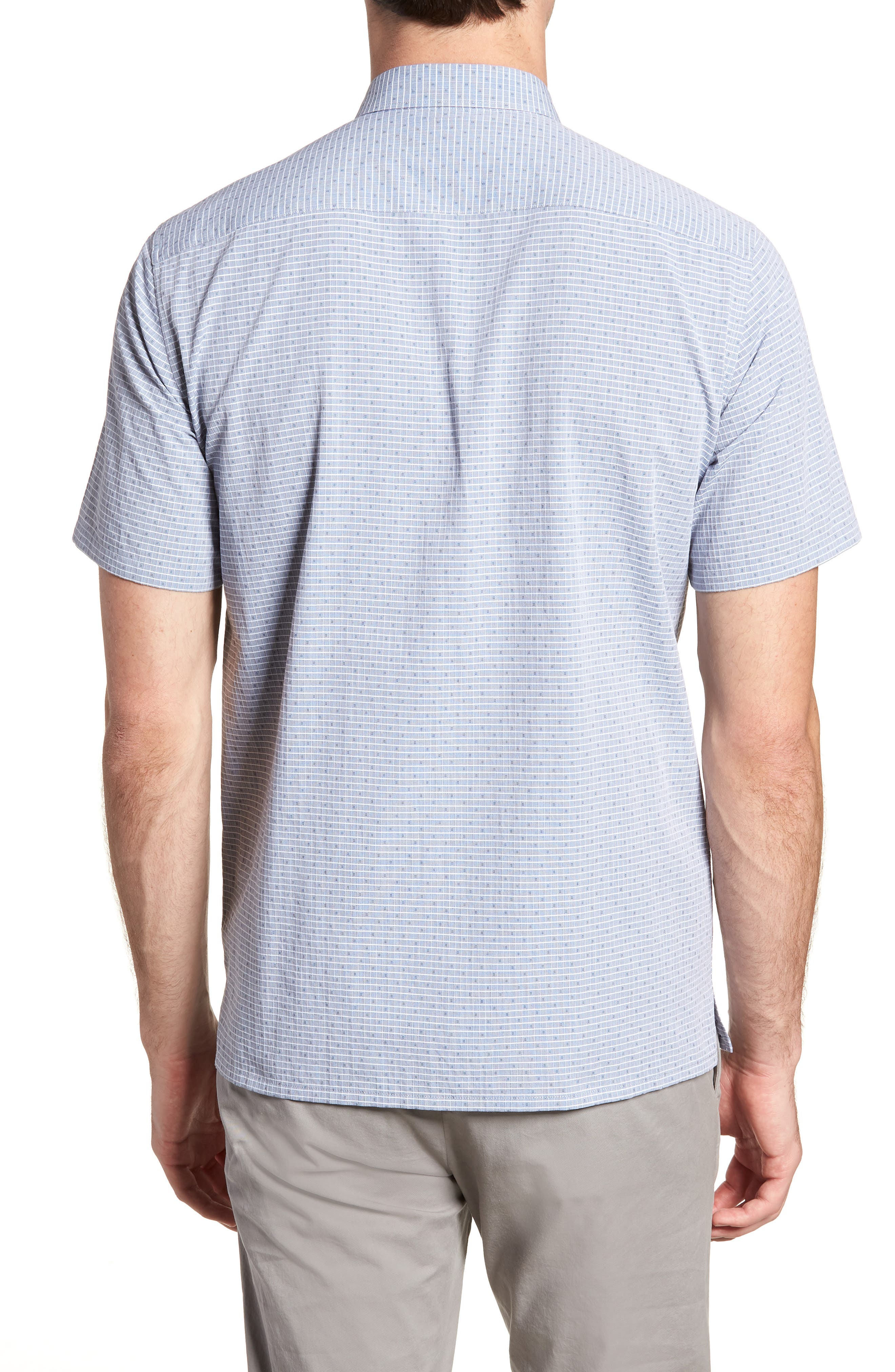 Murray Trim Fit Check Short Sleeve Sport Shirt,                             Alternate thumbnail 2, color,                             Eclipse Multi