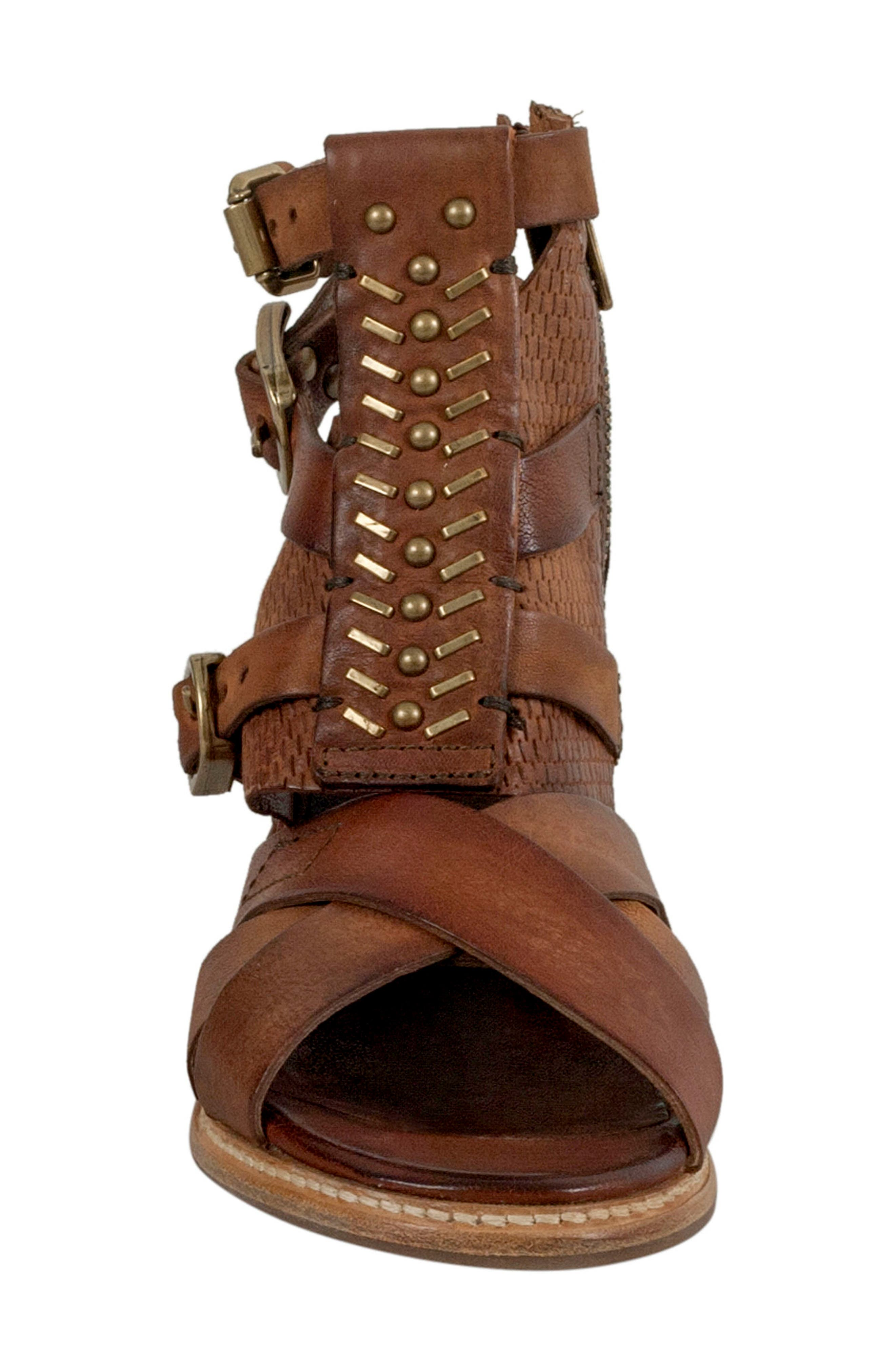 Pennie Gladiator Sandal,                             Alternate thumbnail 4, color,                             Cognac