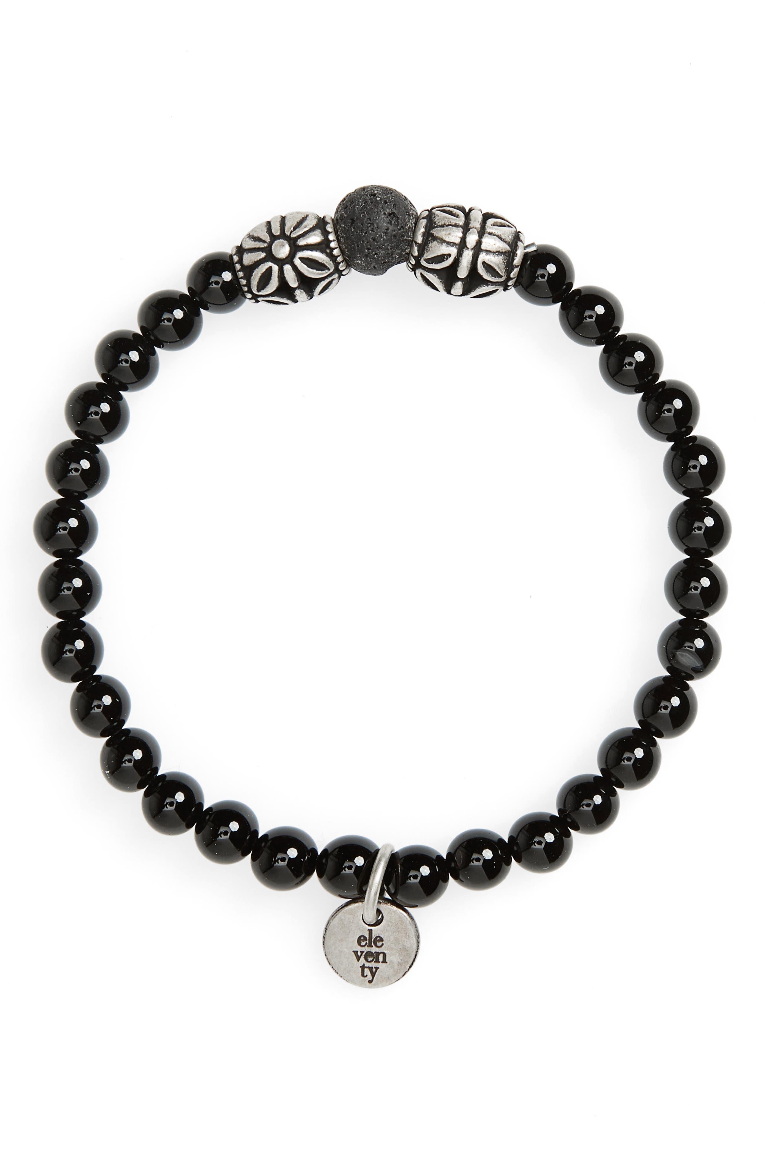 Eleventy Onyx Bead Bracelet