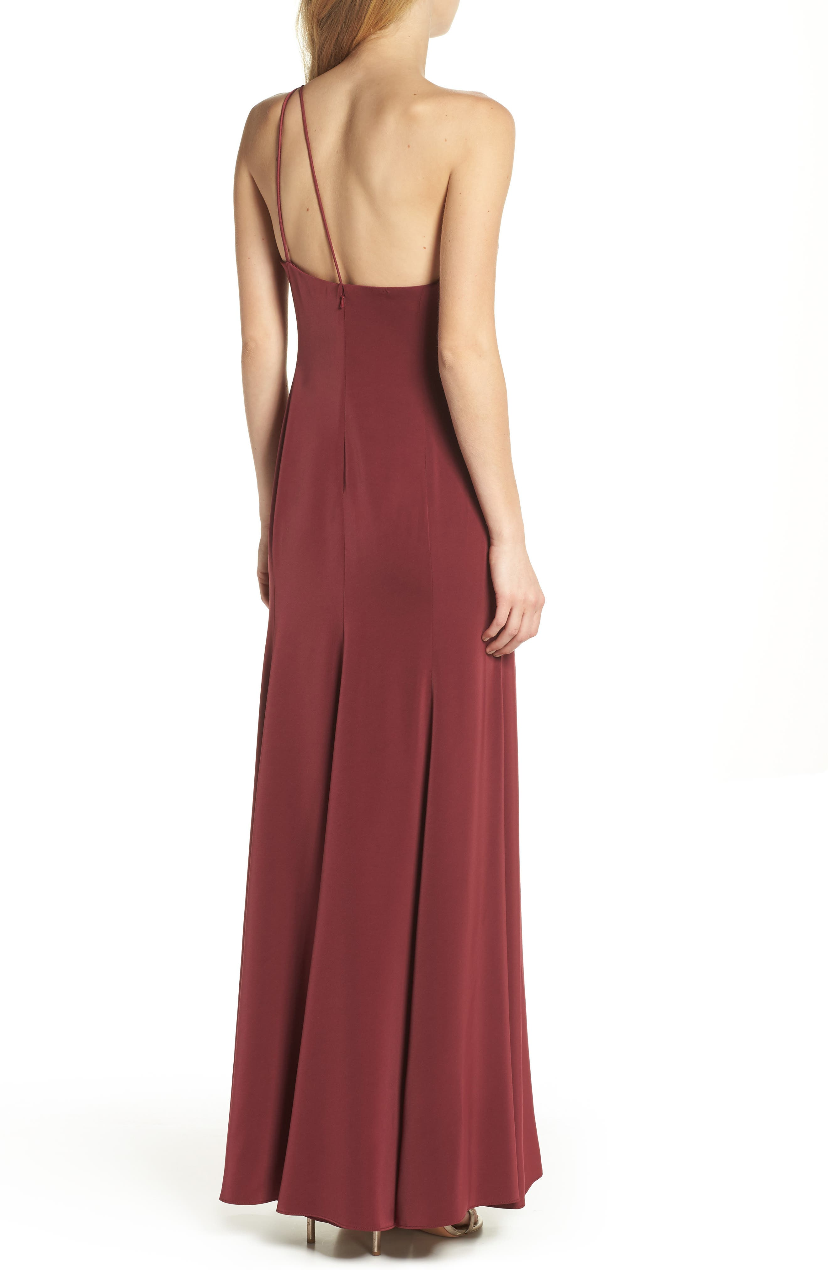 Jelina One-Shoulder Gown,                             Alternate thumbnail 2, color,                             Luxardo