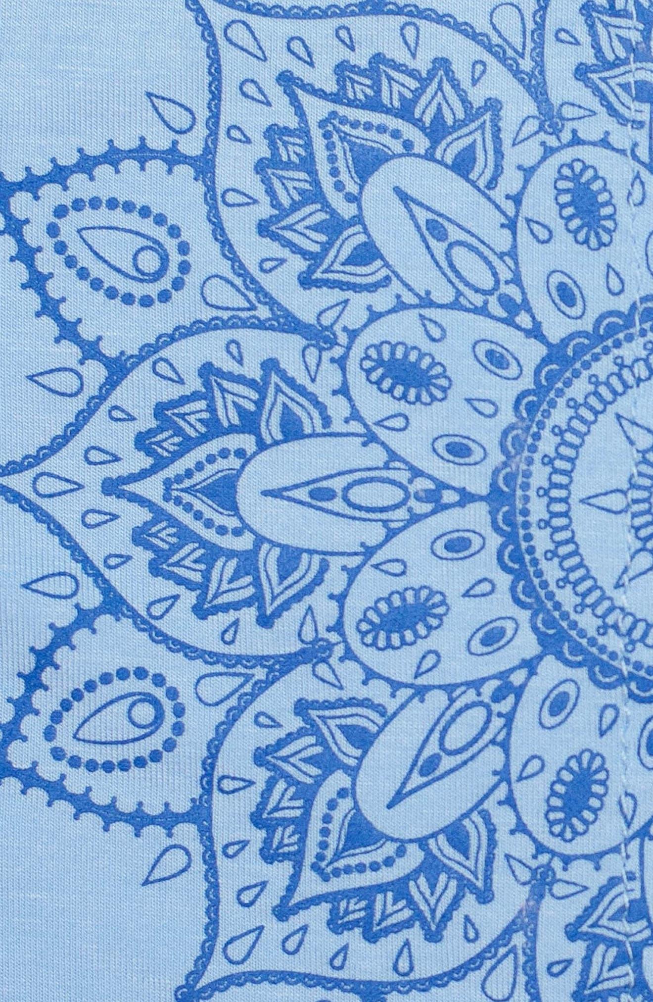 Uma Graphic Split Back Top,                             Alternate thumbnail 3, color,                             Airy Blue