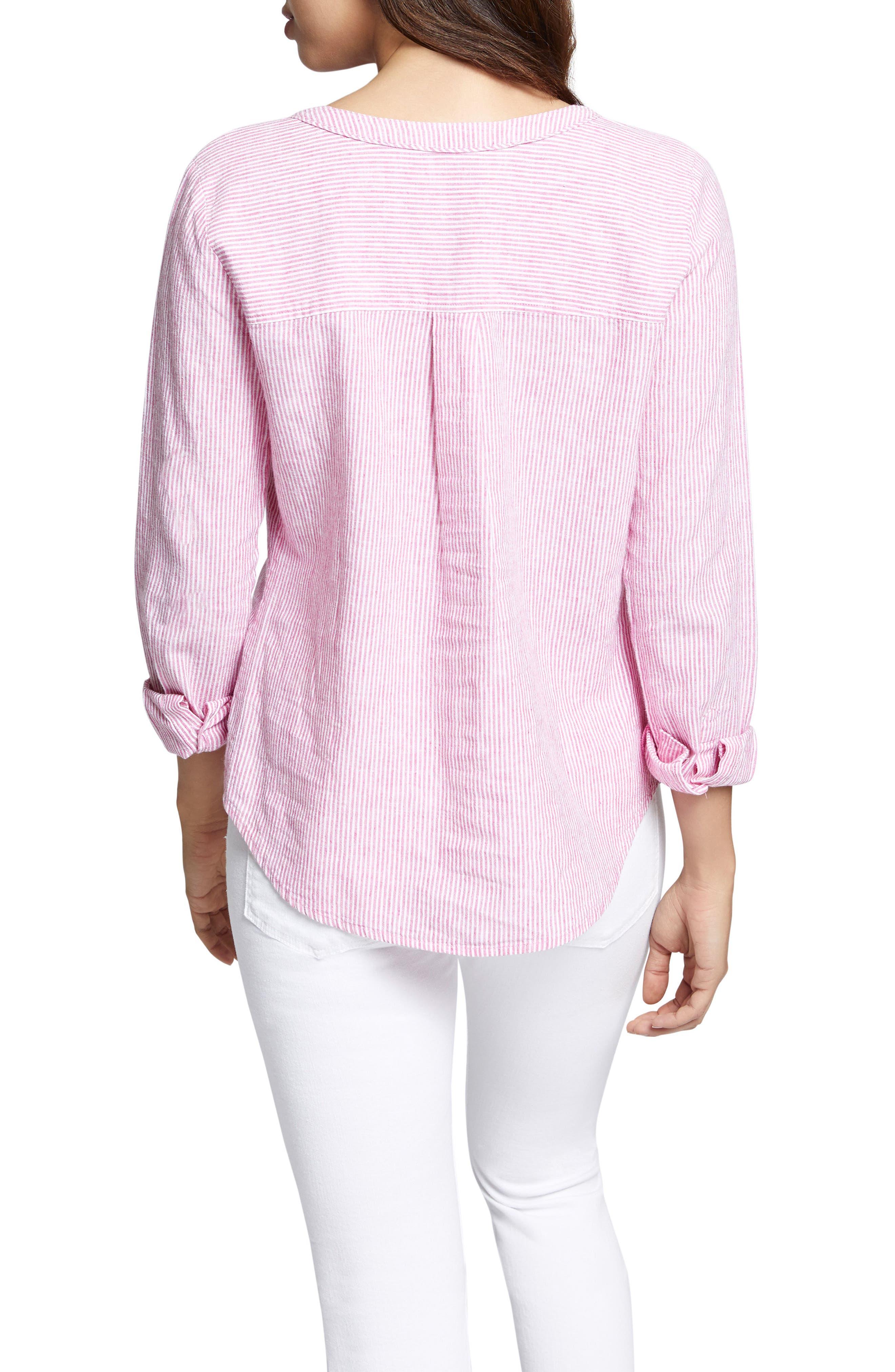 Tommie Lace-Up Stripe Shirt,                             Alternate thumbnail 2, color,                             Wild Cherry Stripe