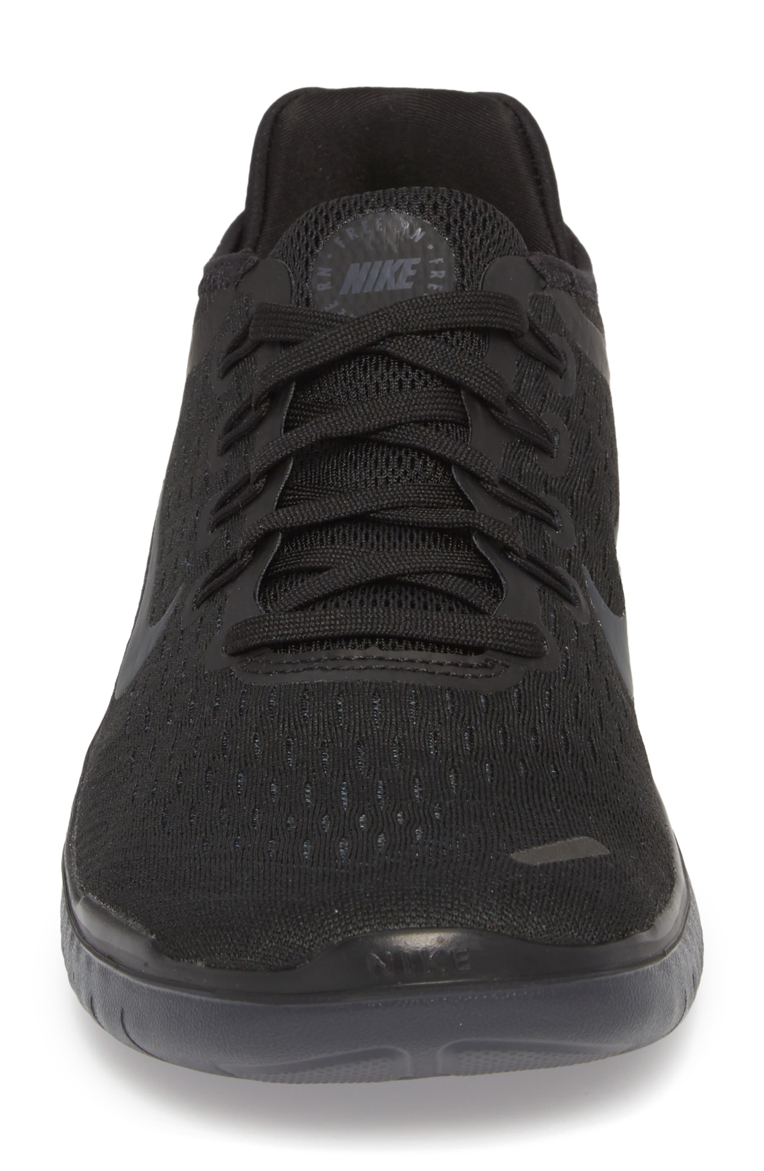 Free RN 2018 Running Shoe,                             Alternate thumbnail 4, color,                             Black/ Anthracite