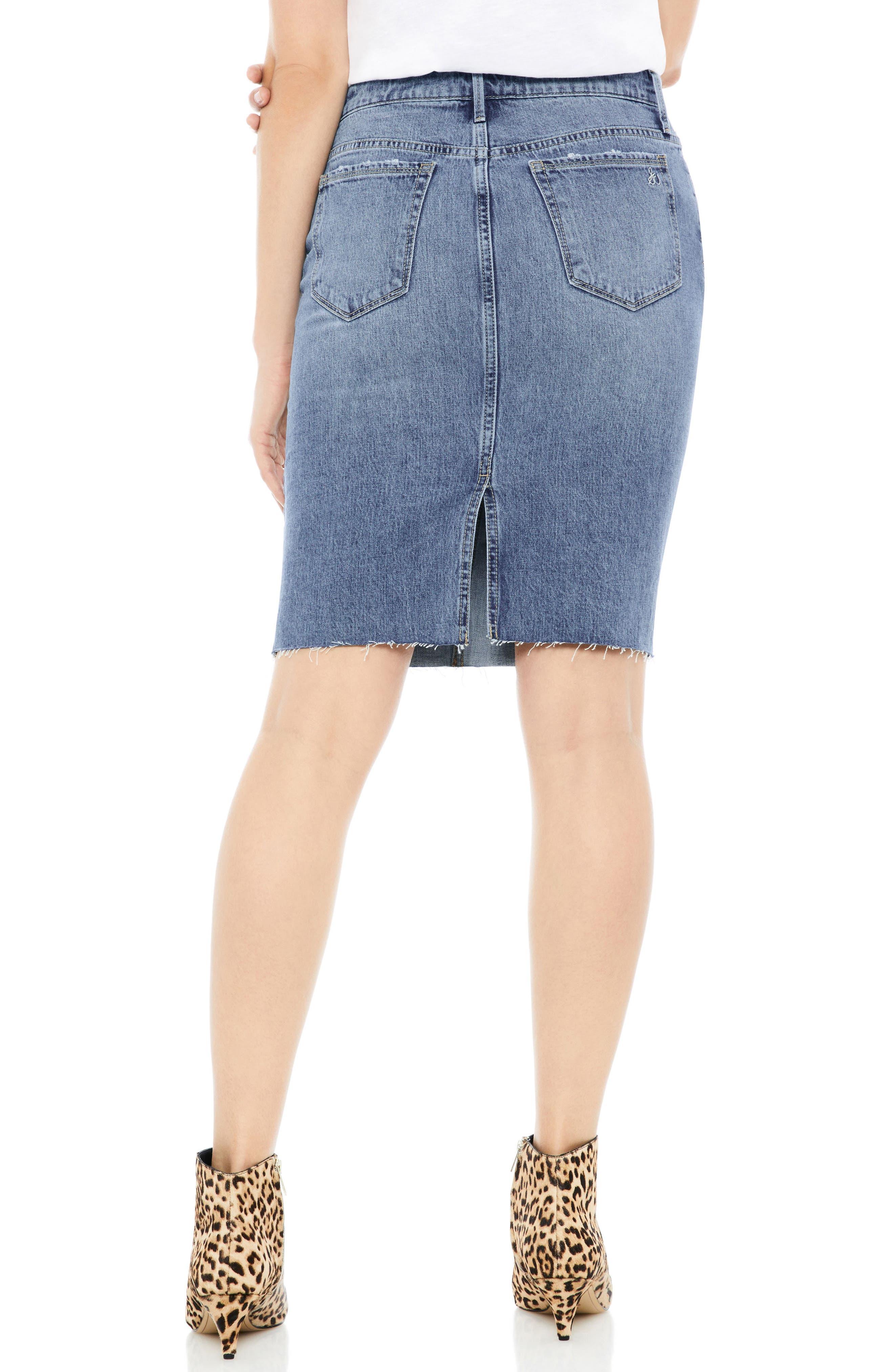 The Riley Stretch Denim Skirt,                             Alternate thumbnail 2, color,                             Benji