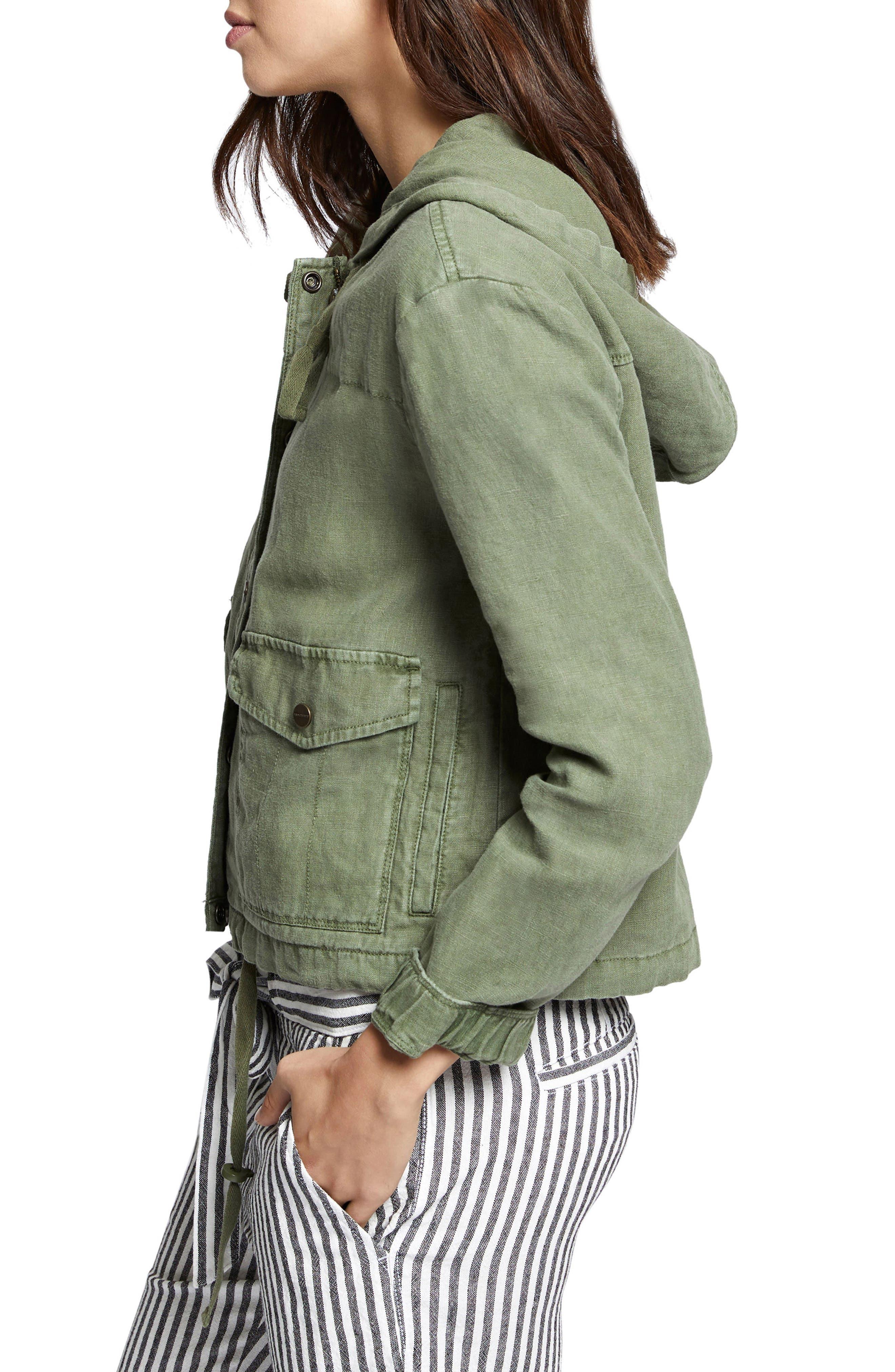 Nova Hooded Jacket,                             Alternate thumbnail 3, color,                             Cadet