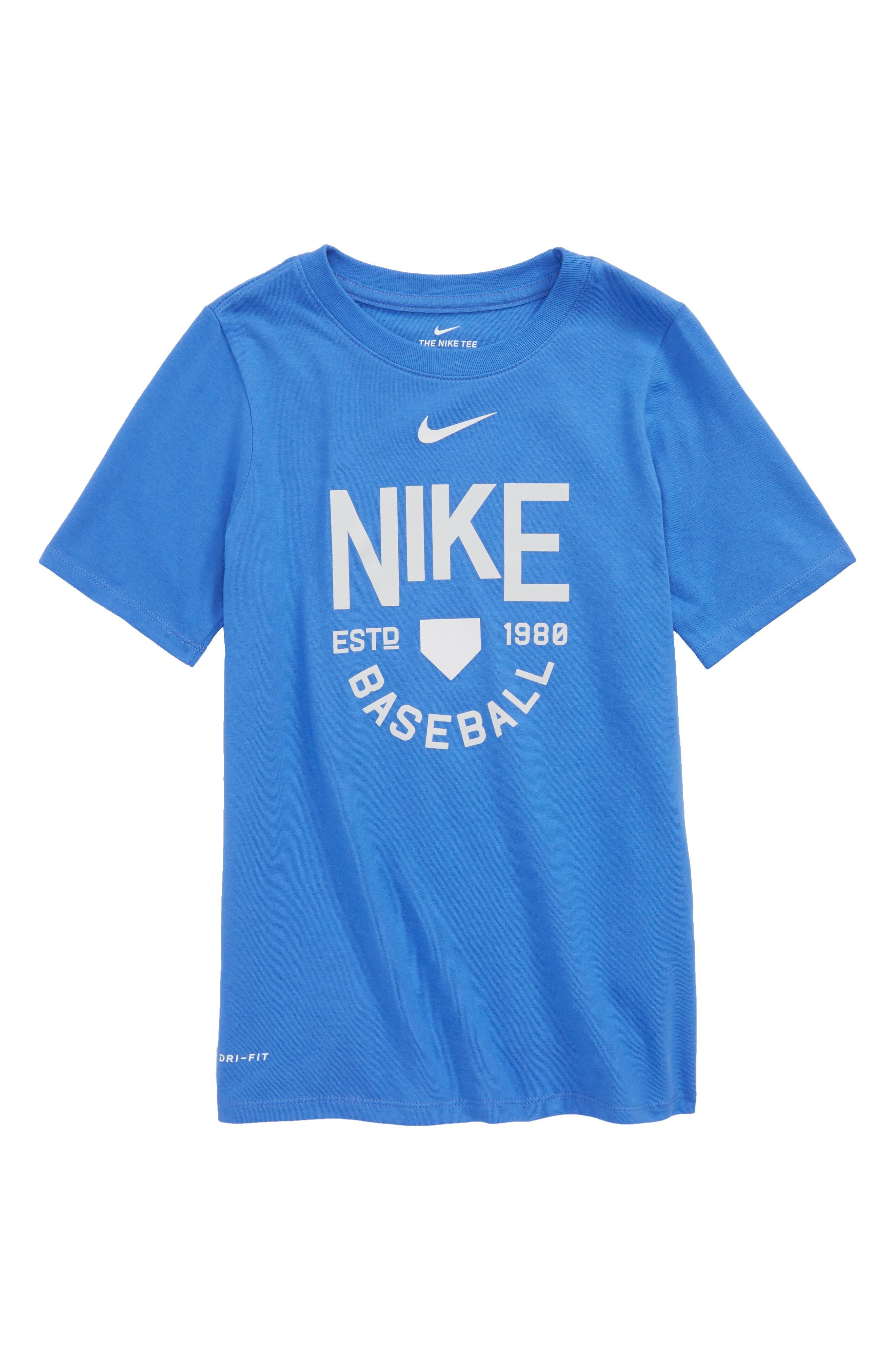 Dry Baseball Logo Graphic T-Shirt,                         Main,                         color, Light Racer Blue