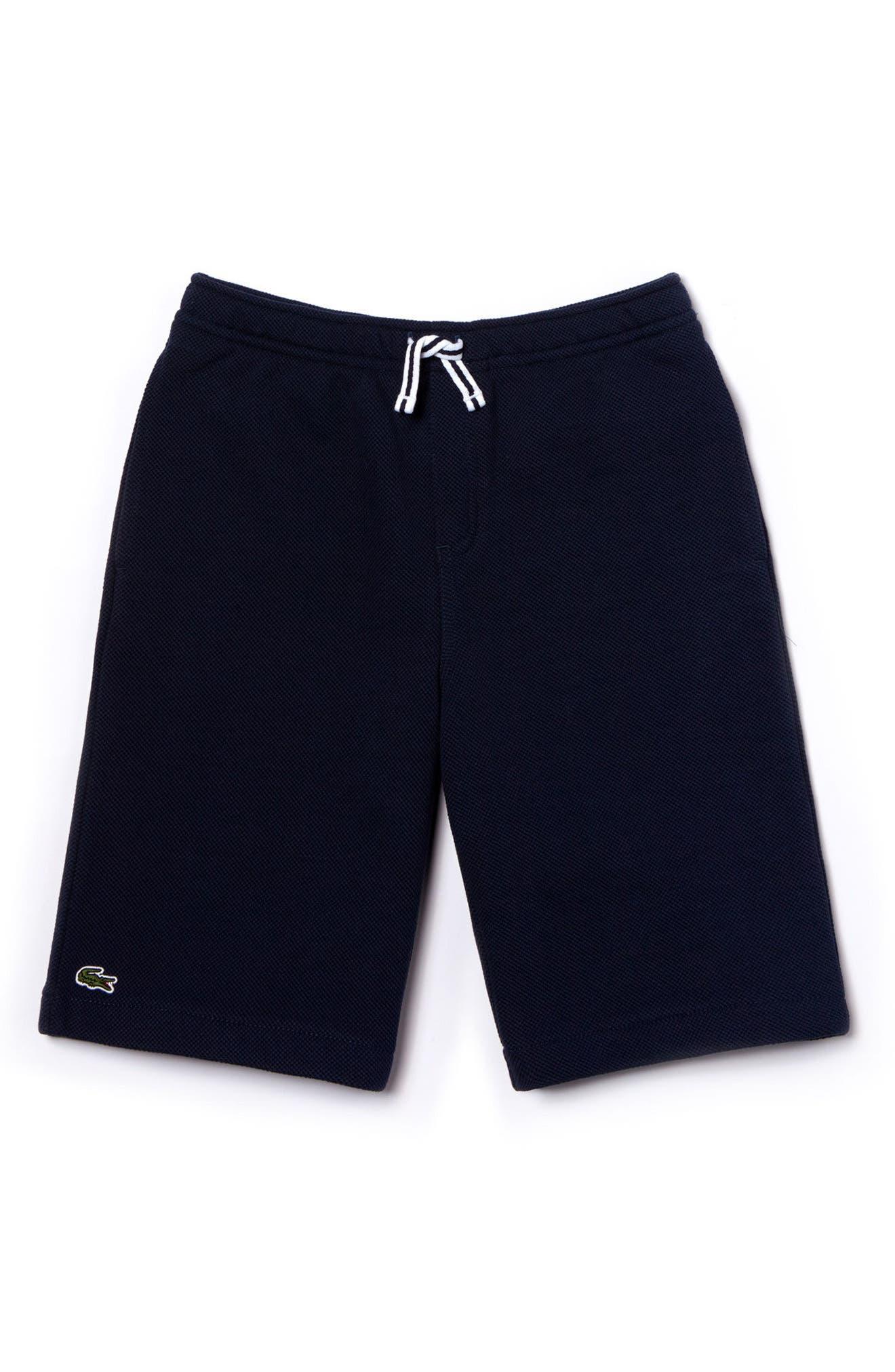 Knit Bermuda Shorts,                         Main,                         color, Navy Blue