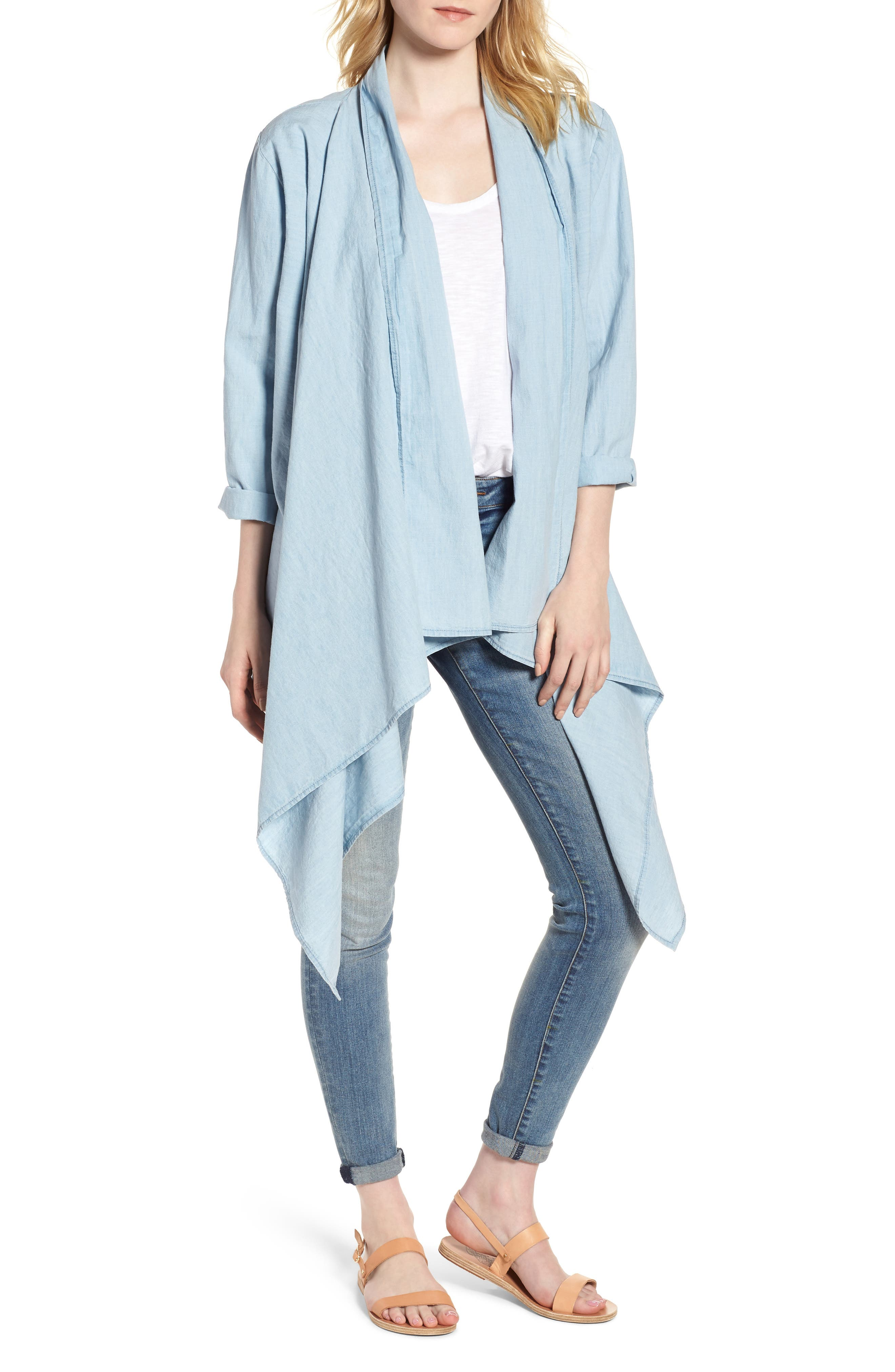 Lucky Draped Top,                         Main,                         color, Myrtle