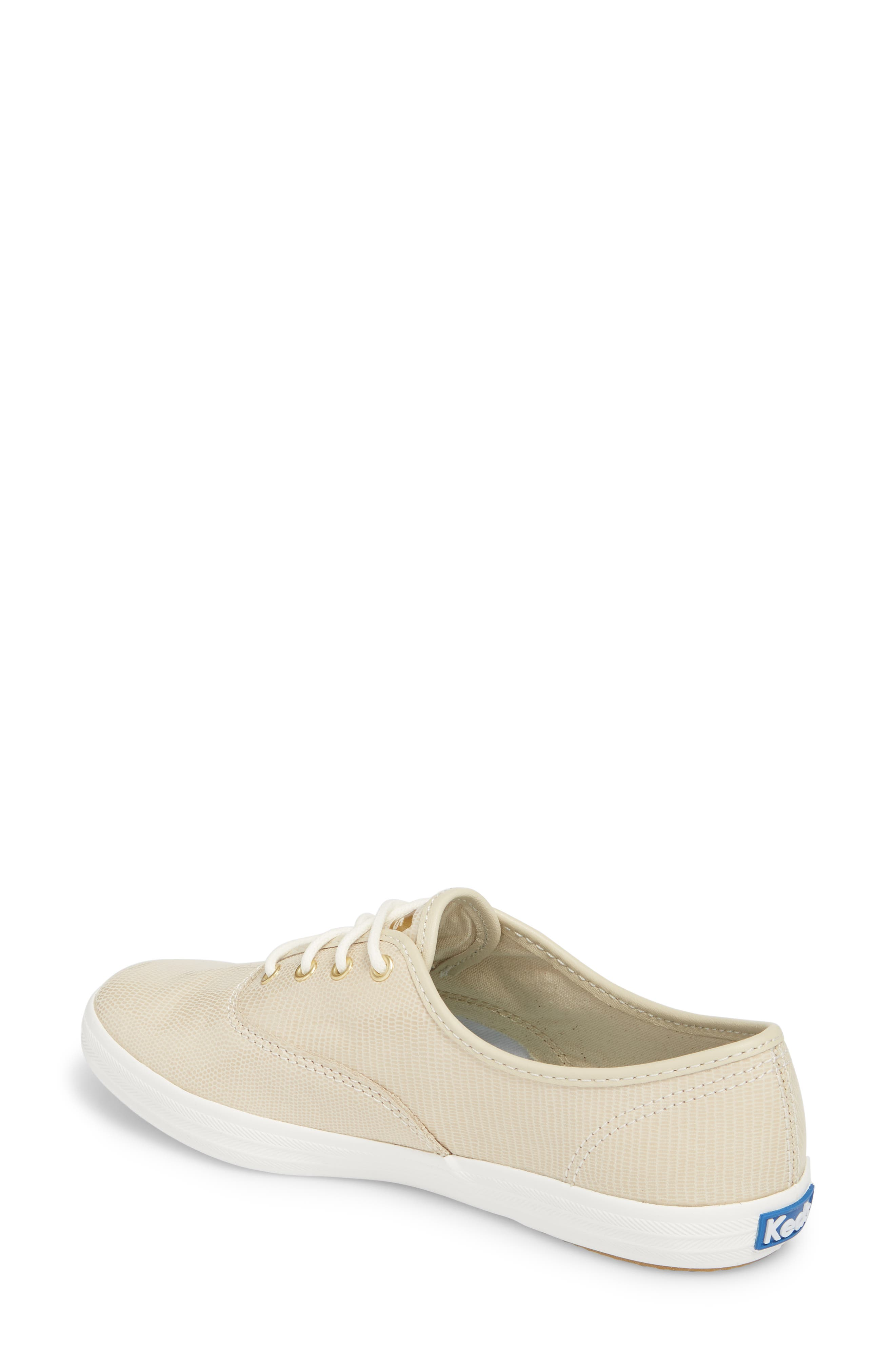 Champion Pretty Leather Sneaker,                             Alternate thumbnail 2, color,                             Ivory