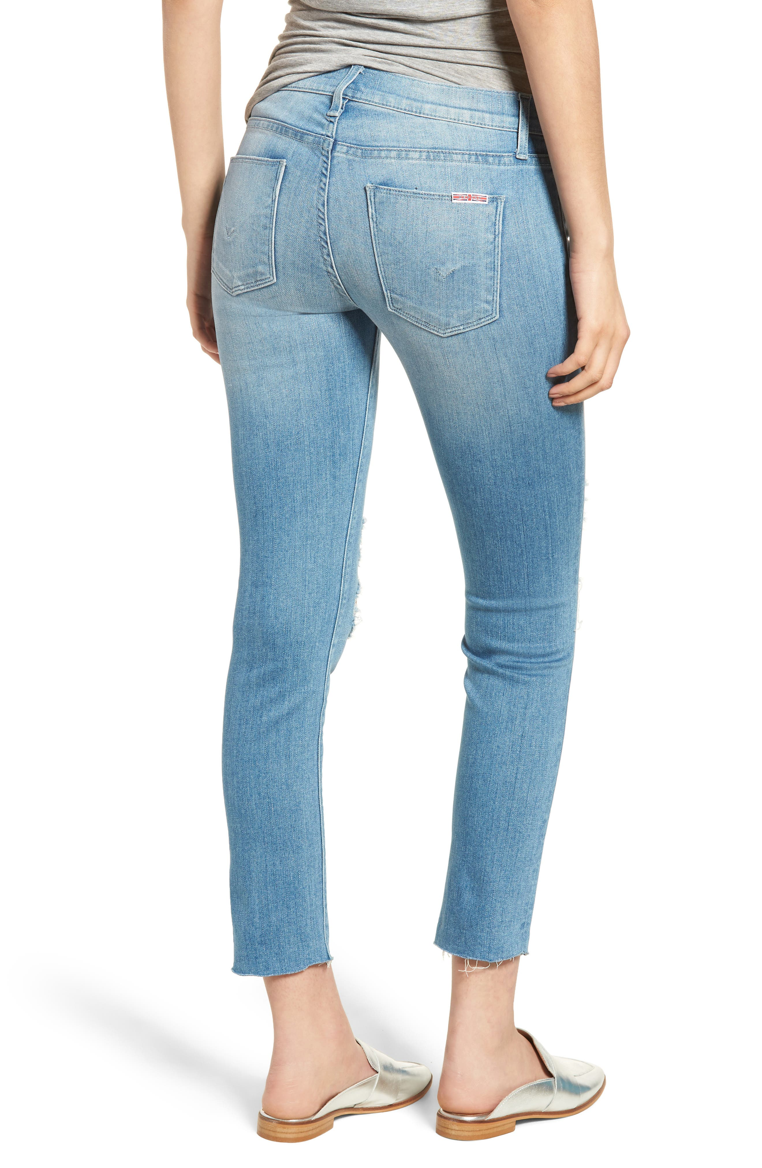 Tally Crop Skinny Jeans,                             Alternate thumbnail 2, color,                             Sugarcoat
