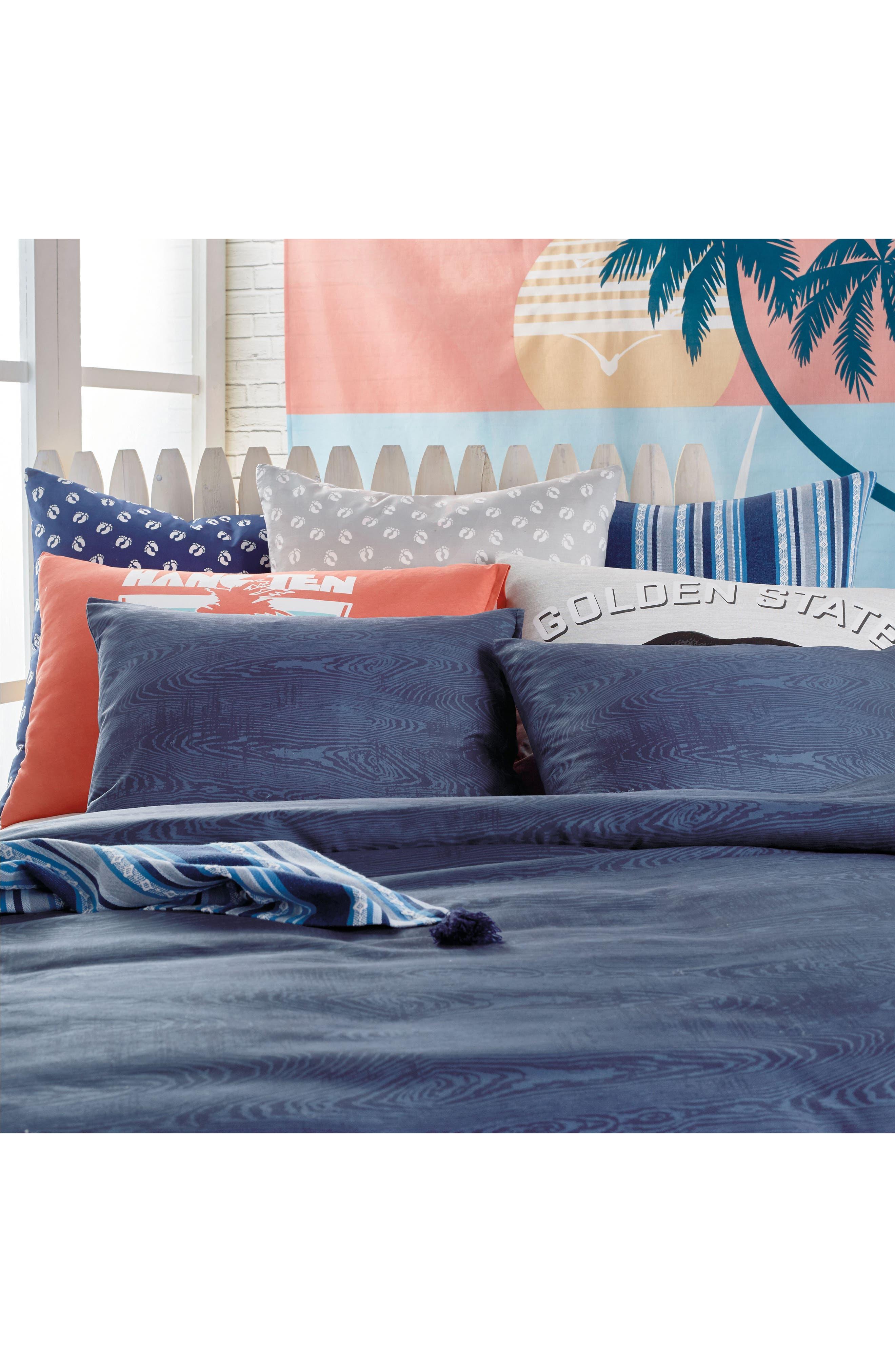 Woodgrain Comforter & Sham Set,                             Alternate thumbnail 5, color,                             Navy