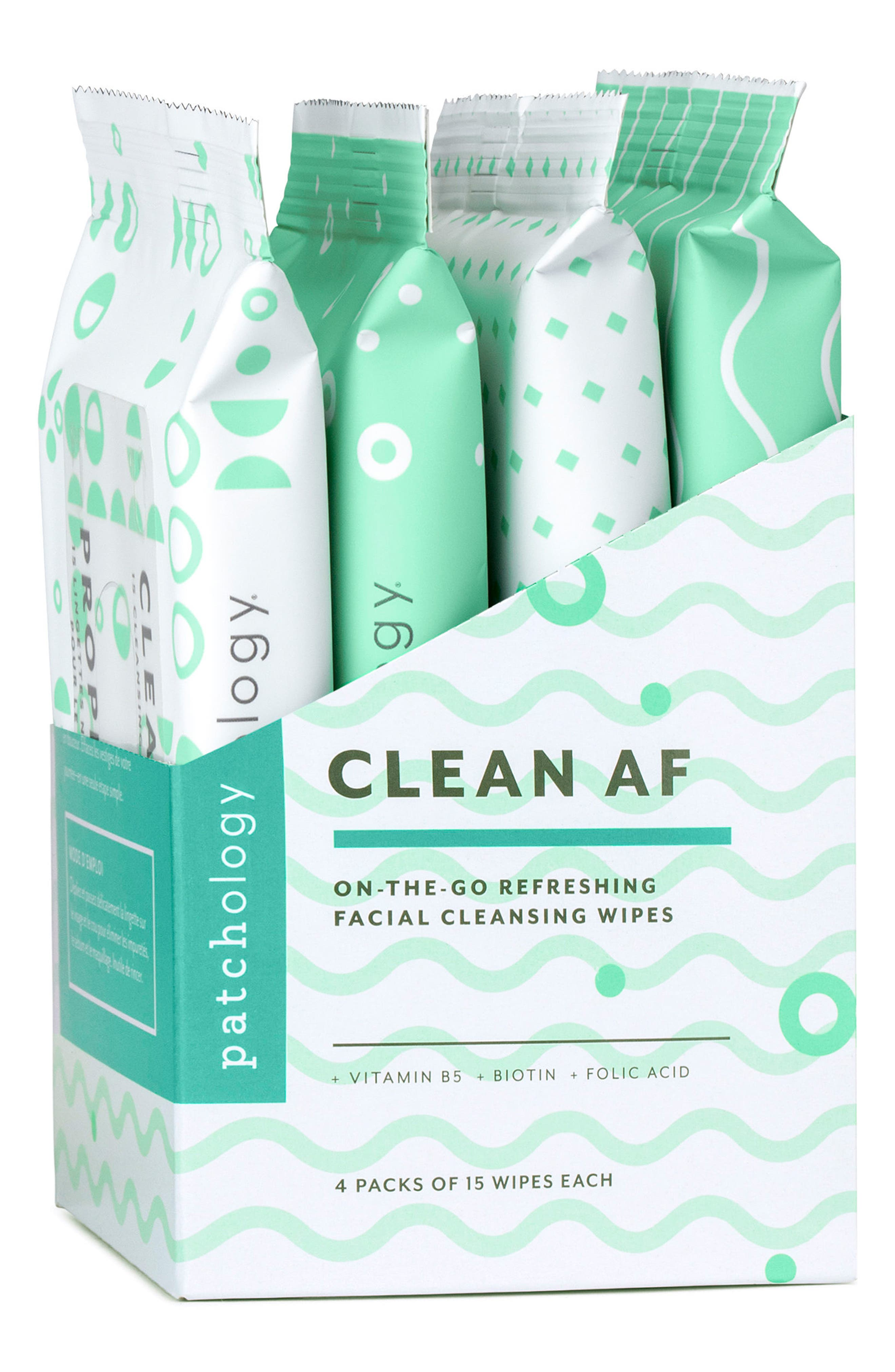 Clean AF On-the-Go Refreshing Facial Cleansing Wipes,                             Alternate thumbnail 3, color,                             No Color