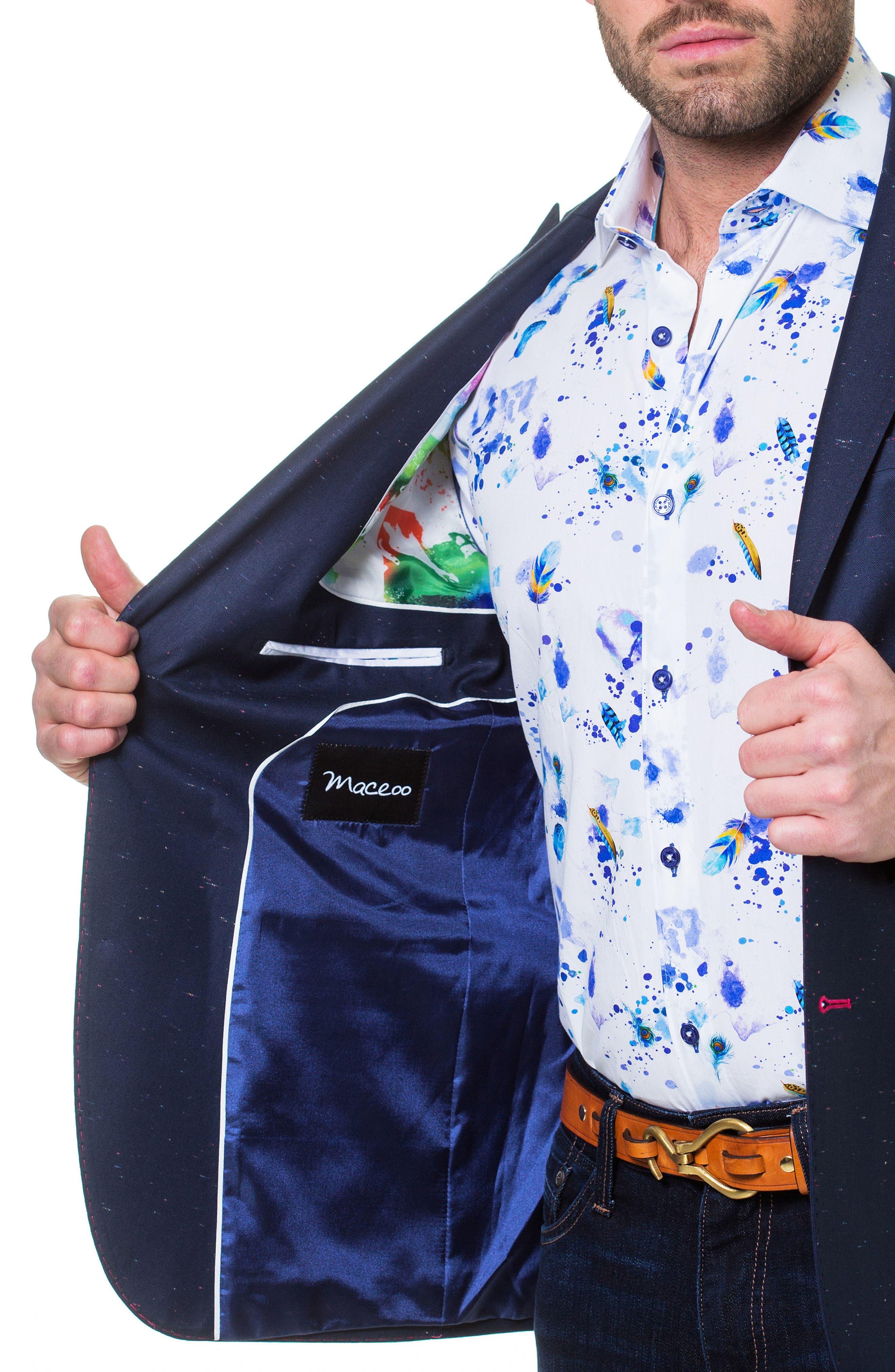 Descartes Sprinkle Linen & Cotton Blend Sport Coat,                             Alternate thumbnail 3, color,                             Blue