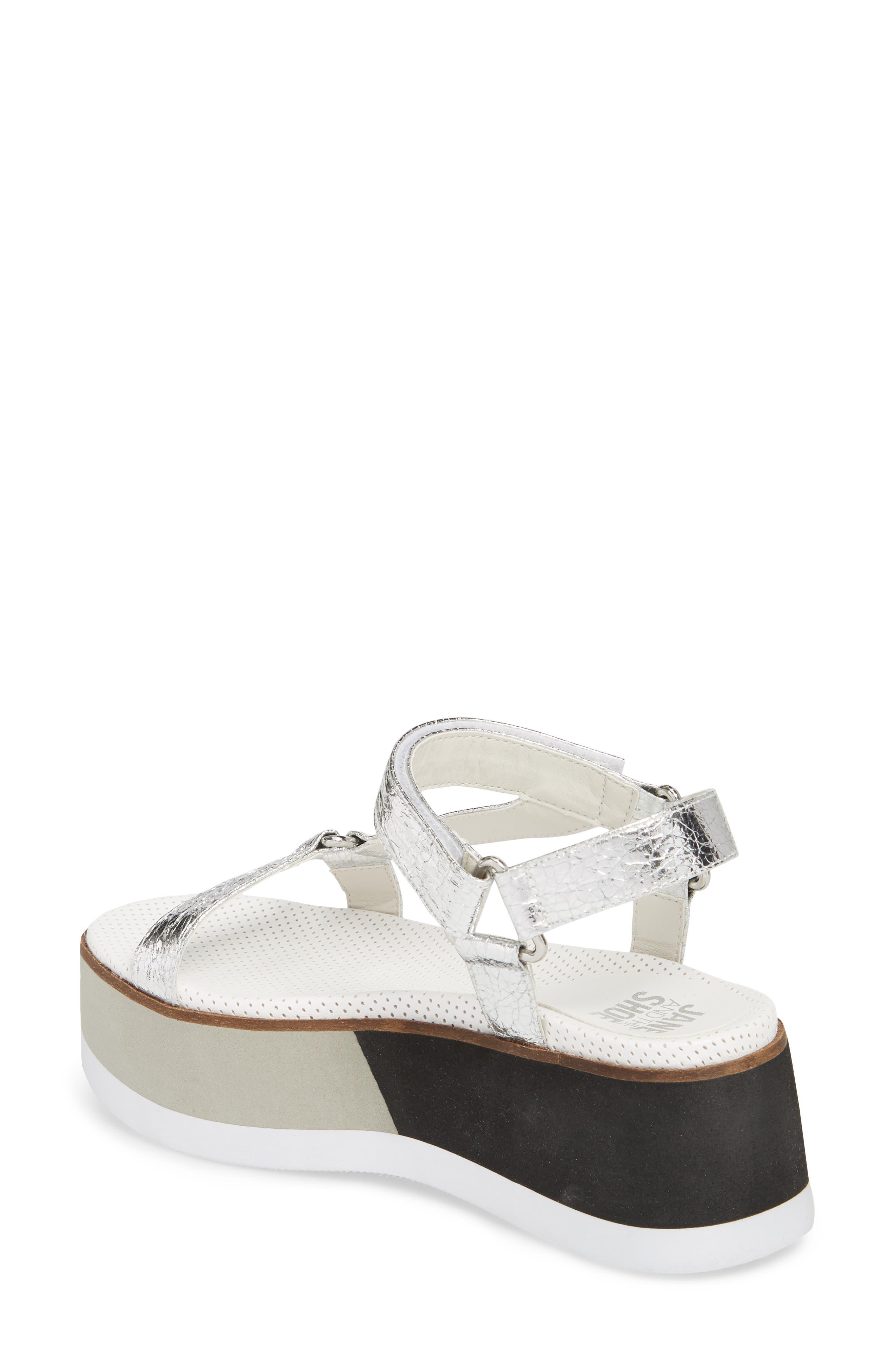 Jayden Platform Sport Sandal,                             Alternate thumbnail 2, color,                             Silver