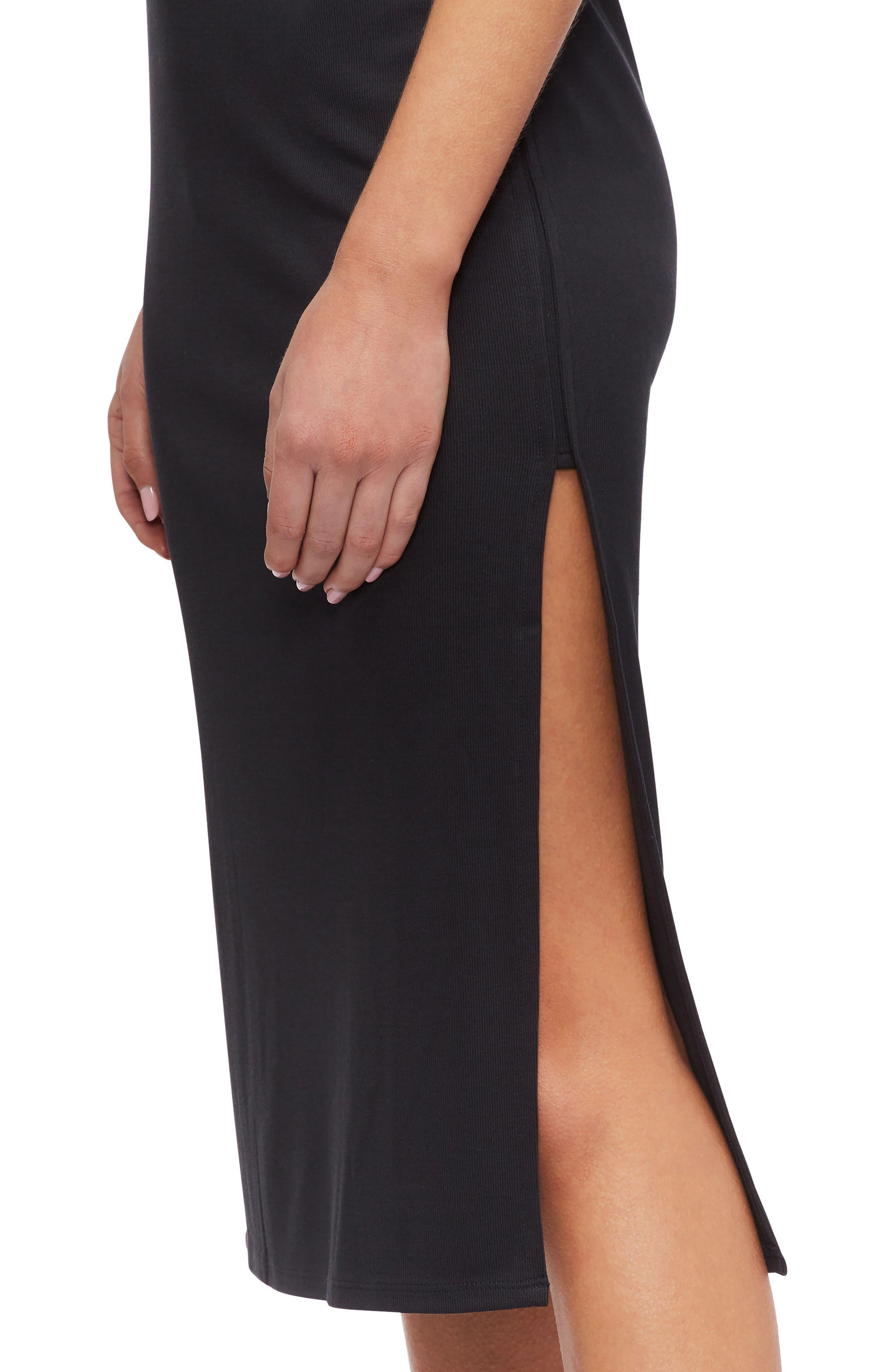 Icara Cover-Up Tank Dress,                             Alternate thumbnail 4, color,                             Black