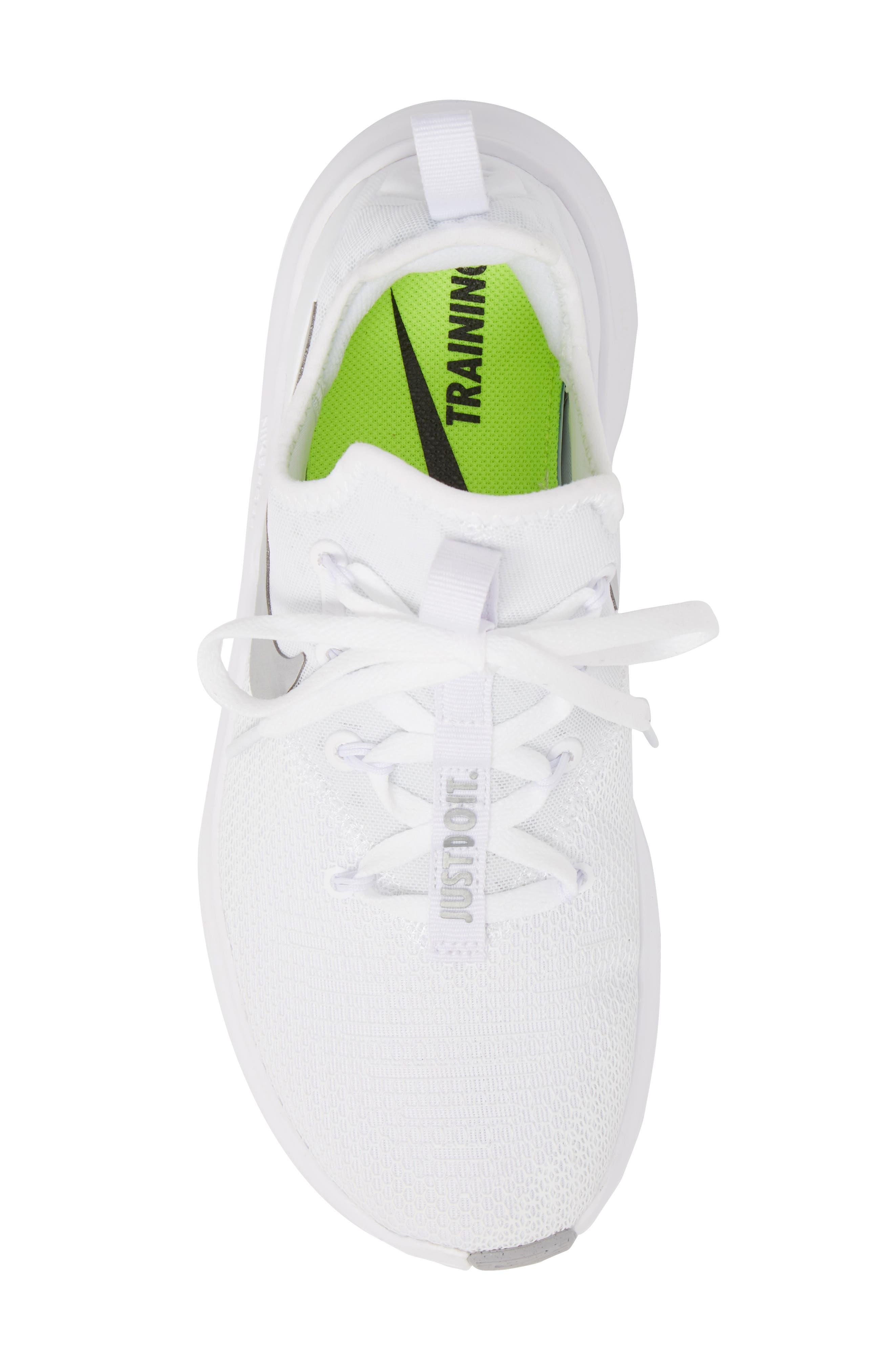 Free TR8 Training Shoe,                             Alternate thumbnail 5, color,                             White/ Metallic Silver/ White