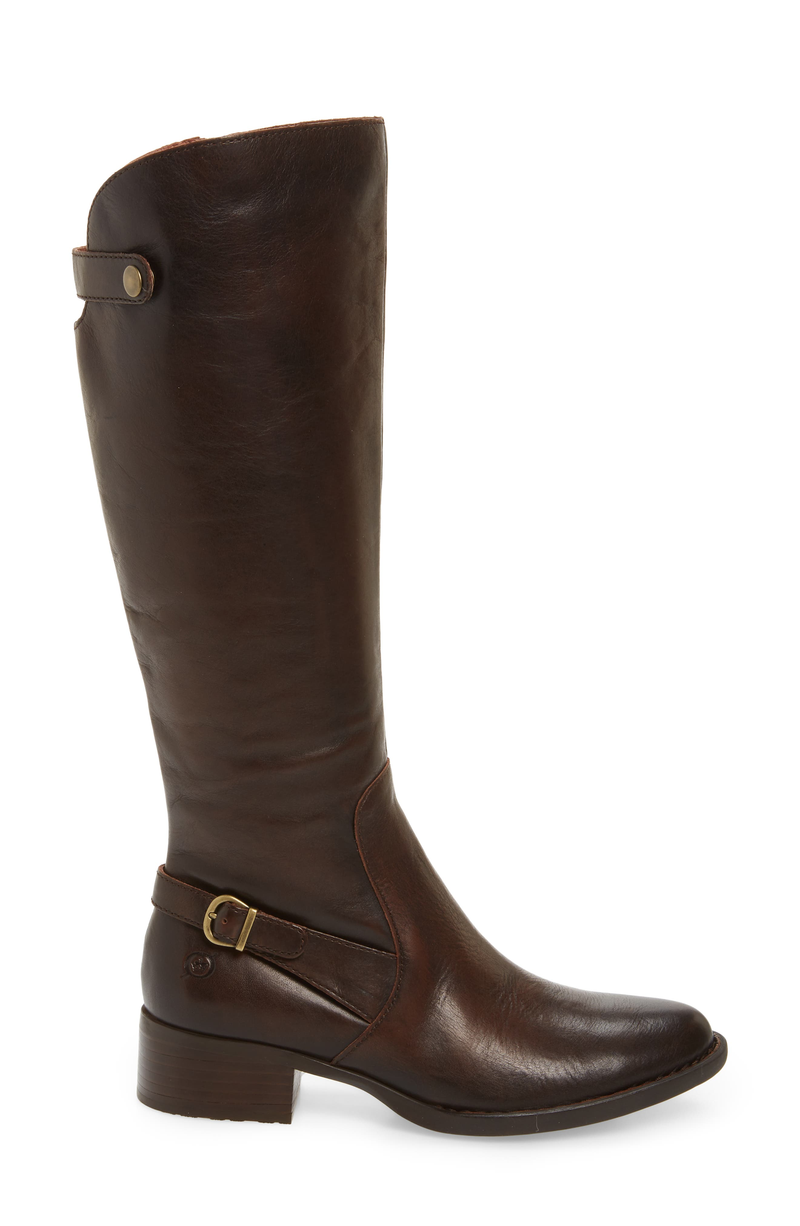 Cupra Tall Boot,                             Alternate thumbnail 3, color,                             Brown Leather