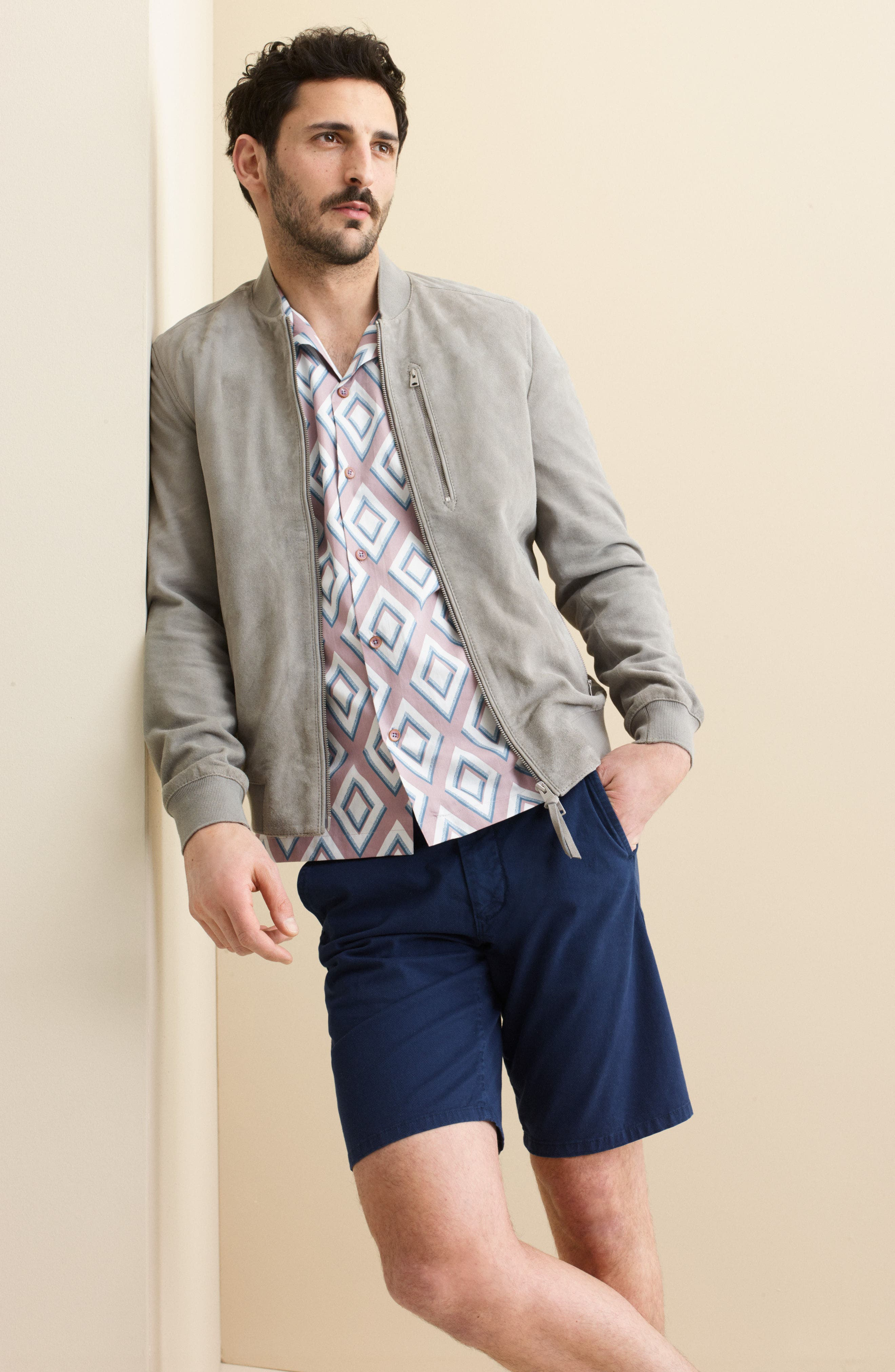 Stretch Chino Dock Shorts,                             Alternate thumbnail 4, color,