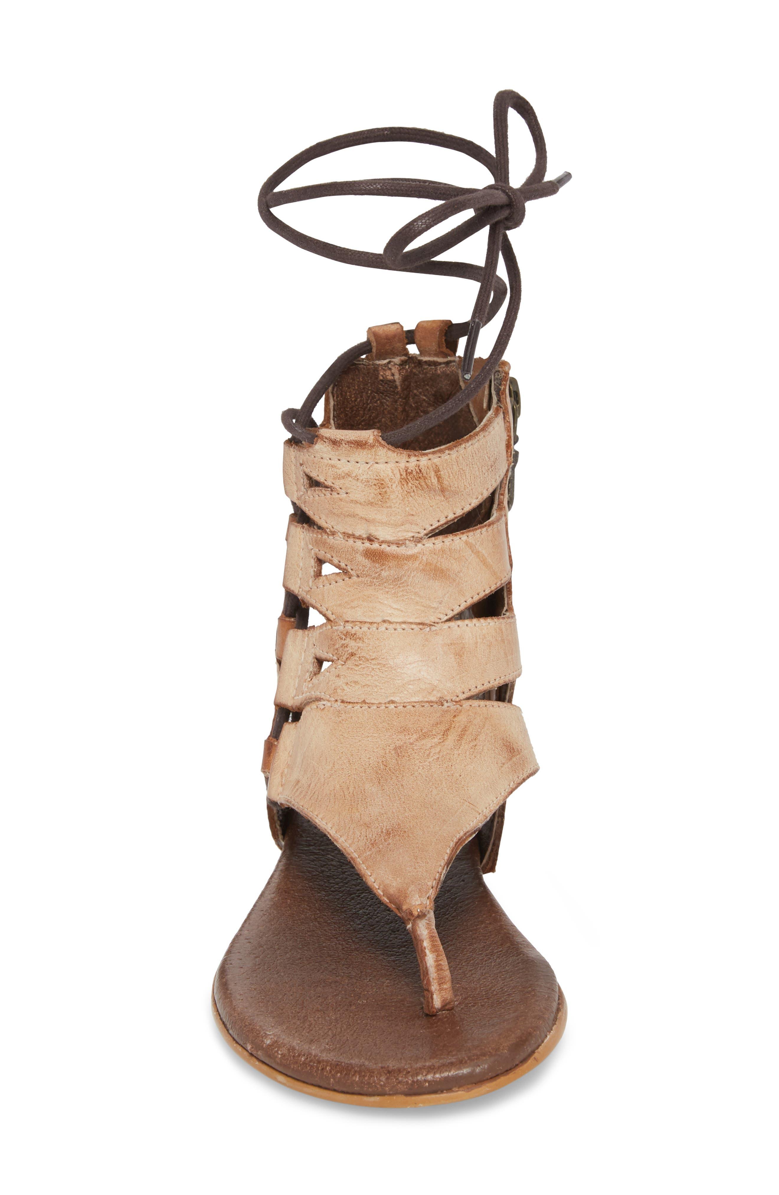 Rosalinda Tall Sandal,                             Alternate thumbnail 4, color,                             Cognac