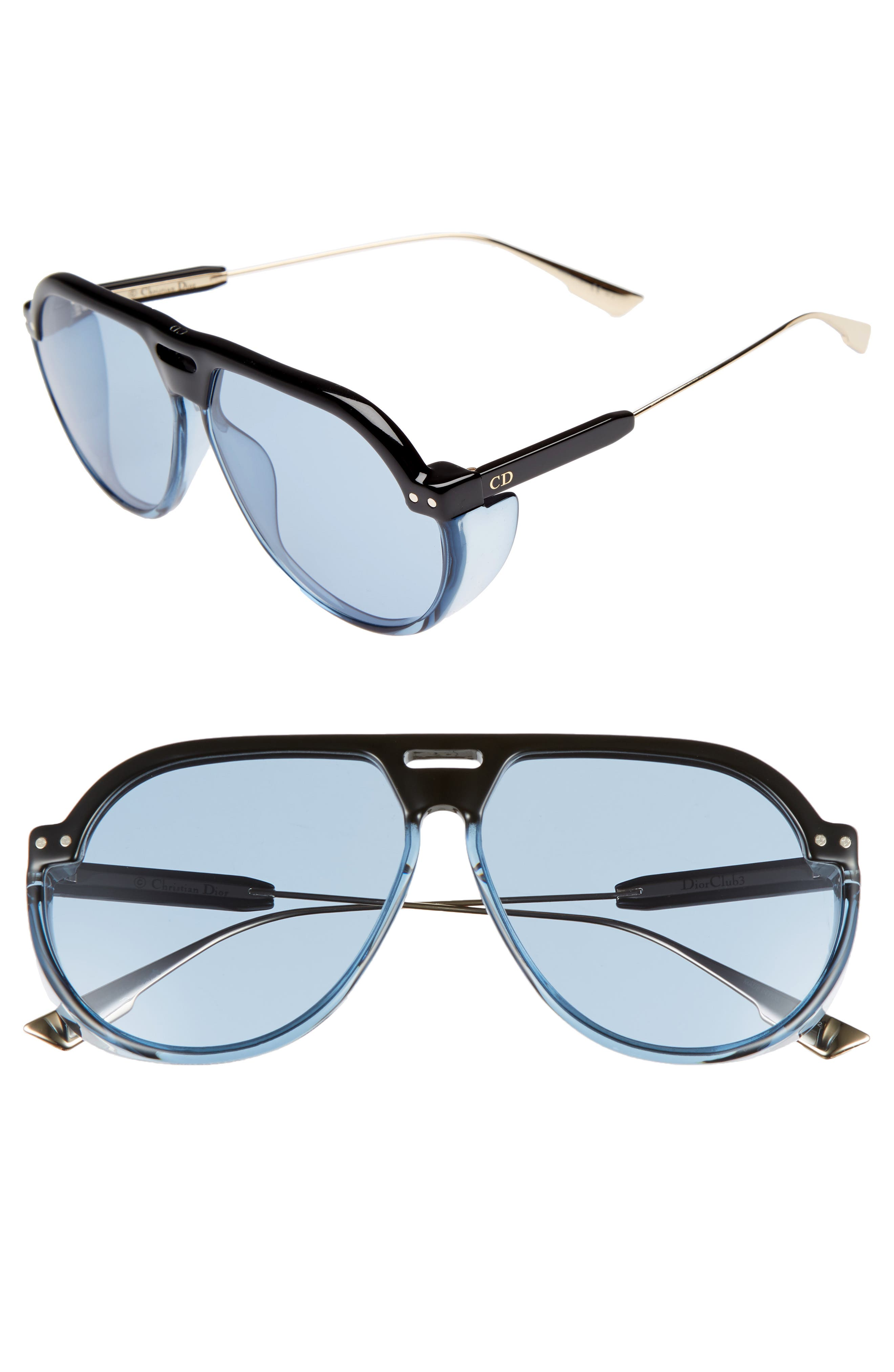 Dior DiorClub3S 61mm Pilot Sunglasses