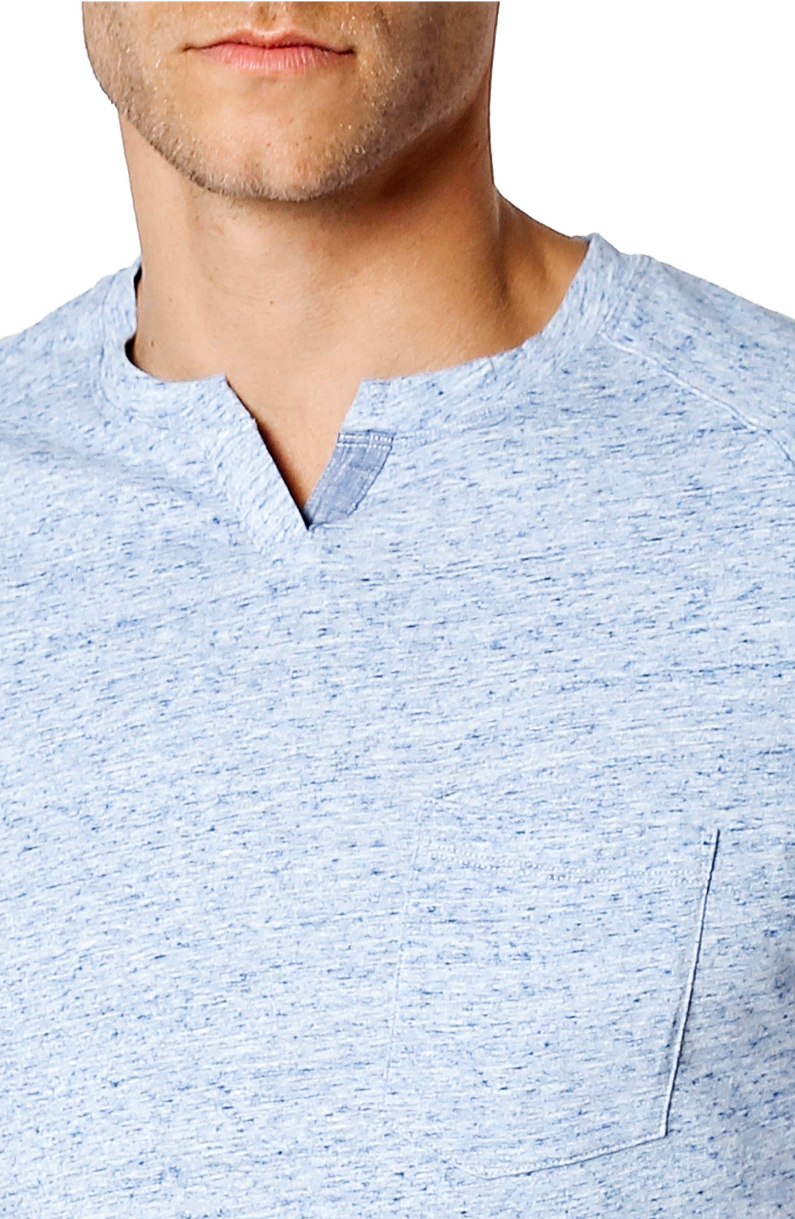 Slim Fit T-Shirt,                             Alternate thumbnail 4, color,                             Blue Heather