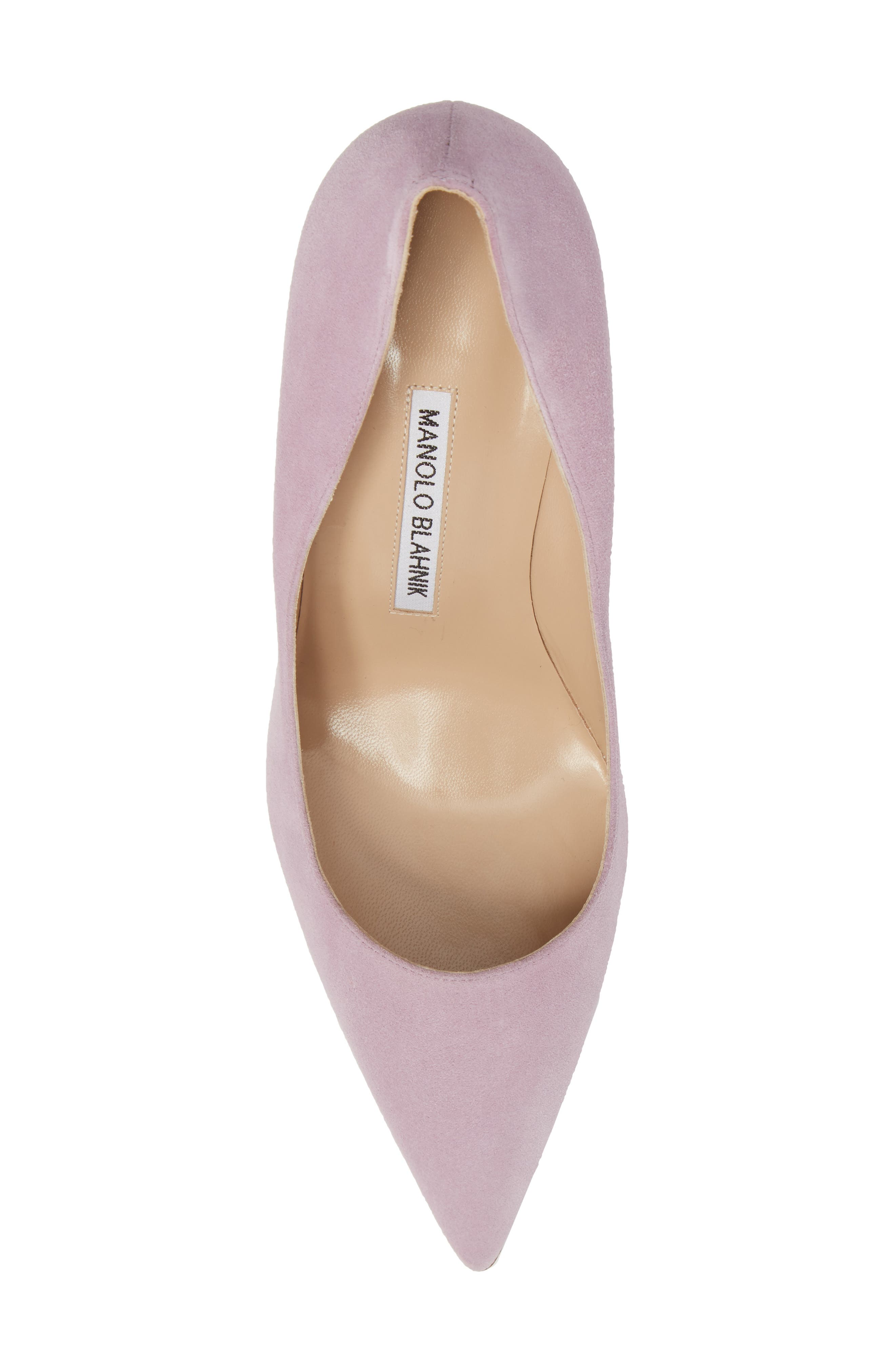 BB Pointy Toe Pump,                             Alternate thumbnail 5, color,                             Lavender Suede