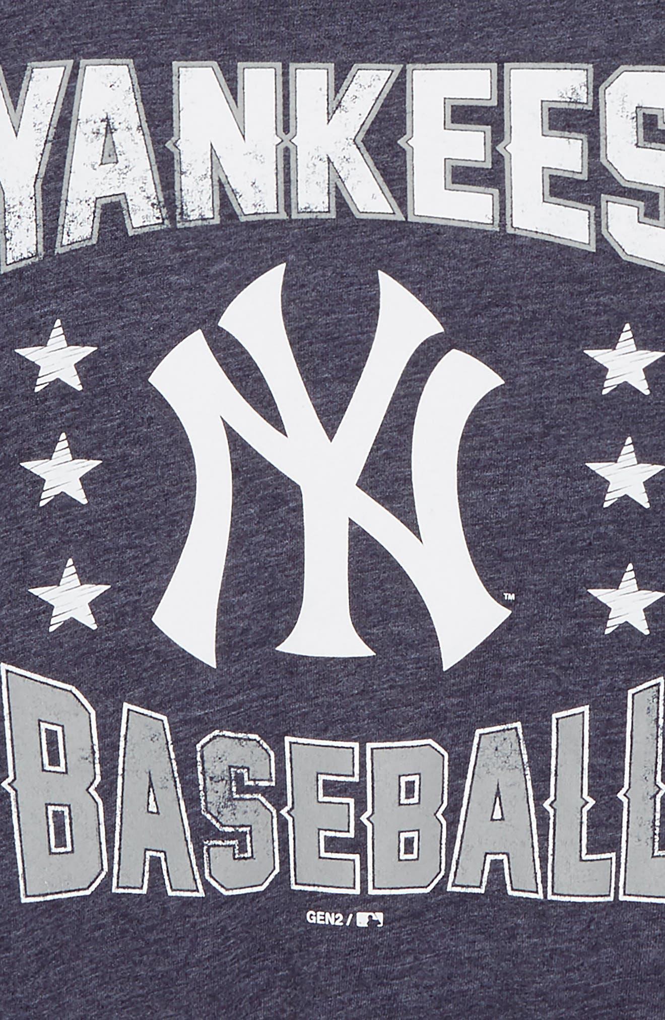 New York Yankees Triple Play T-Shirt,                             Alternate thumbnail 2, color,                             Navy