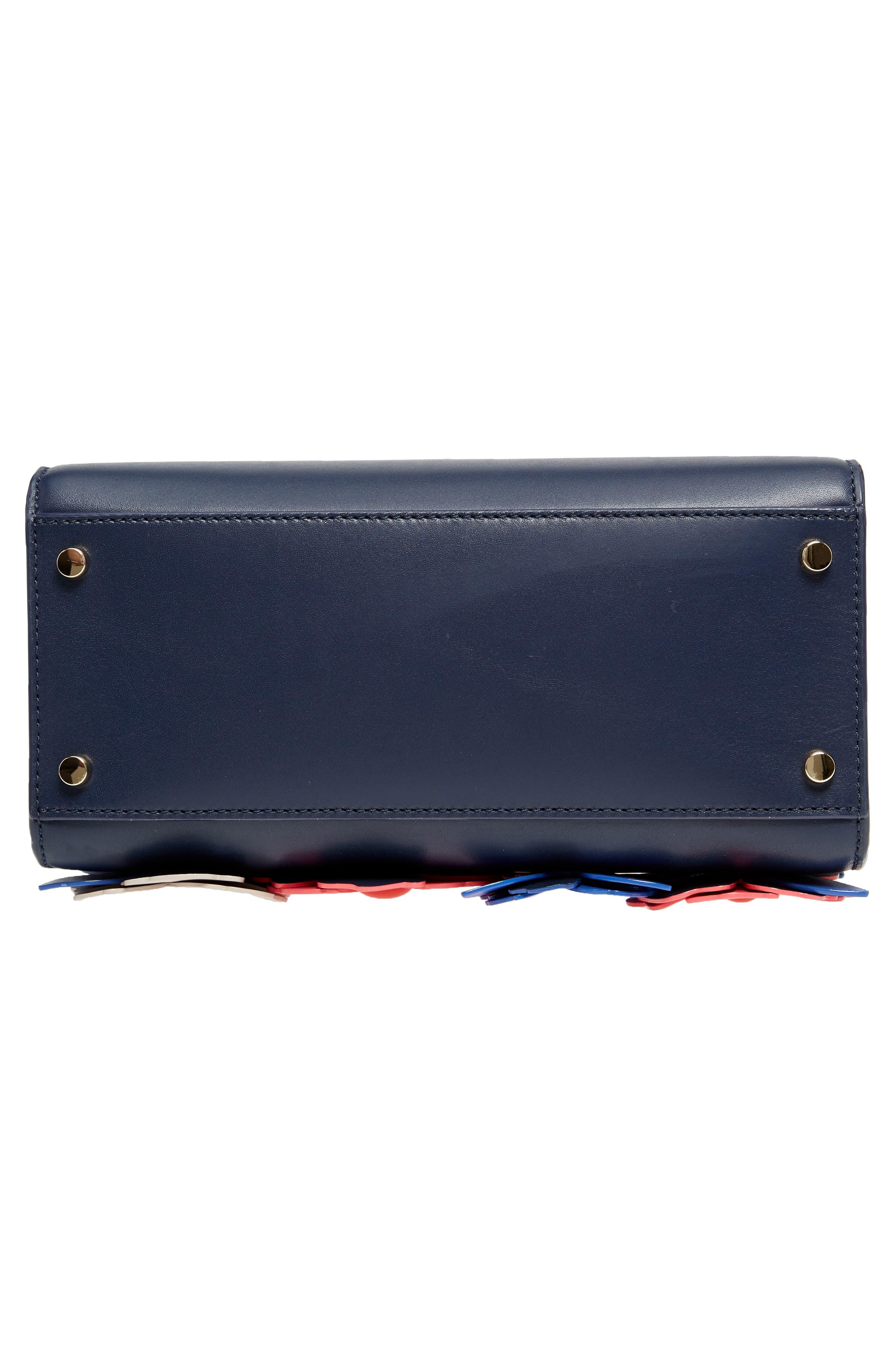 madison daisy lane – sam leather handbag,                             Alternate thumbnail 6, color,                             Blazer Blue Multi