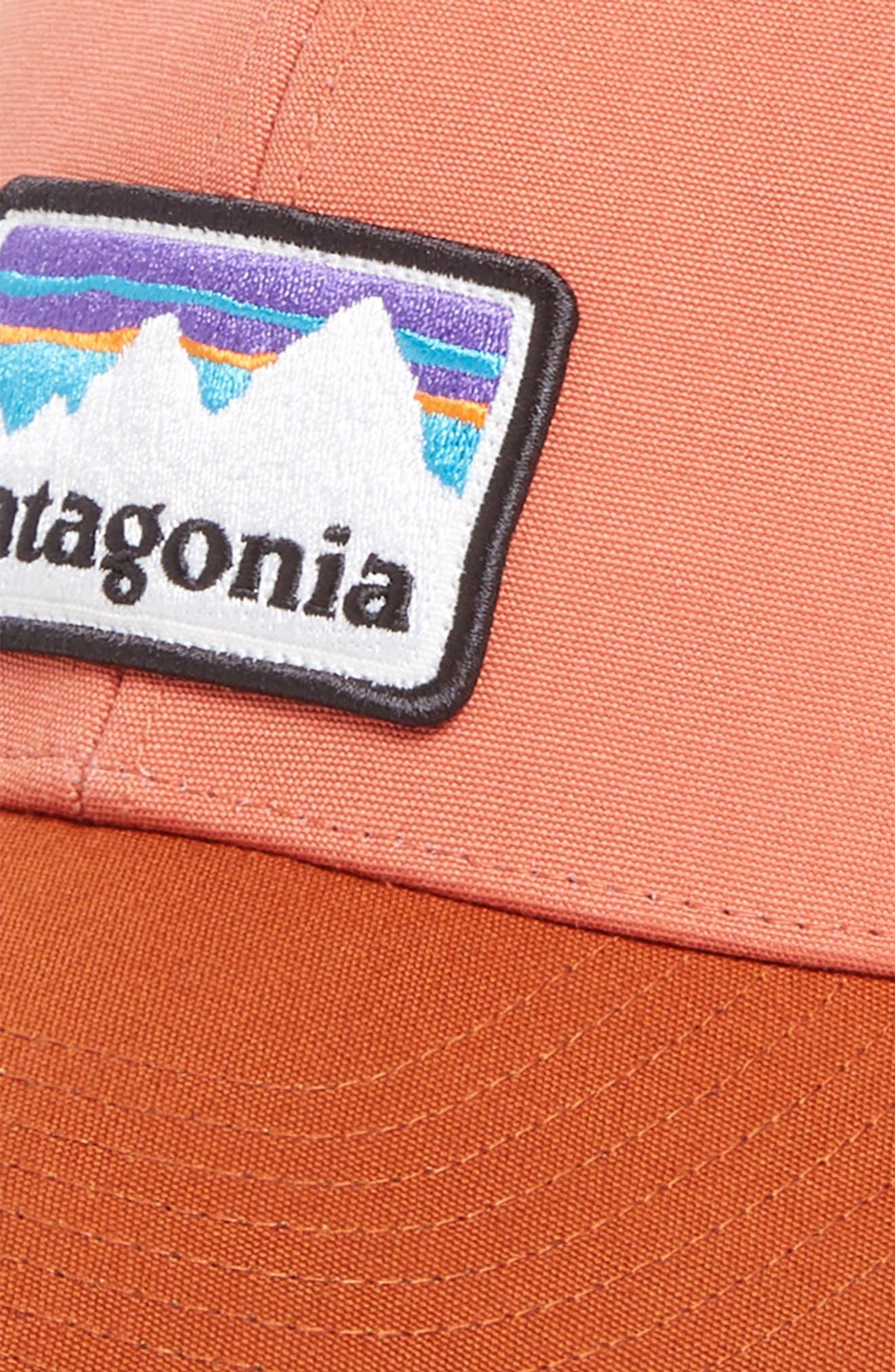Shop Sticker Trucker Hat,                             Alternate thumbnail 3, color,                             Quartz Coral