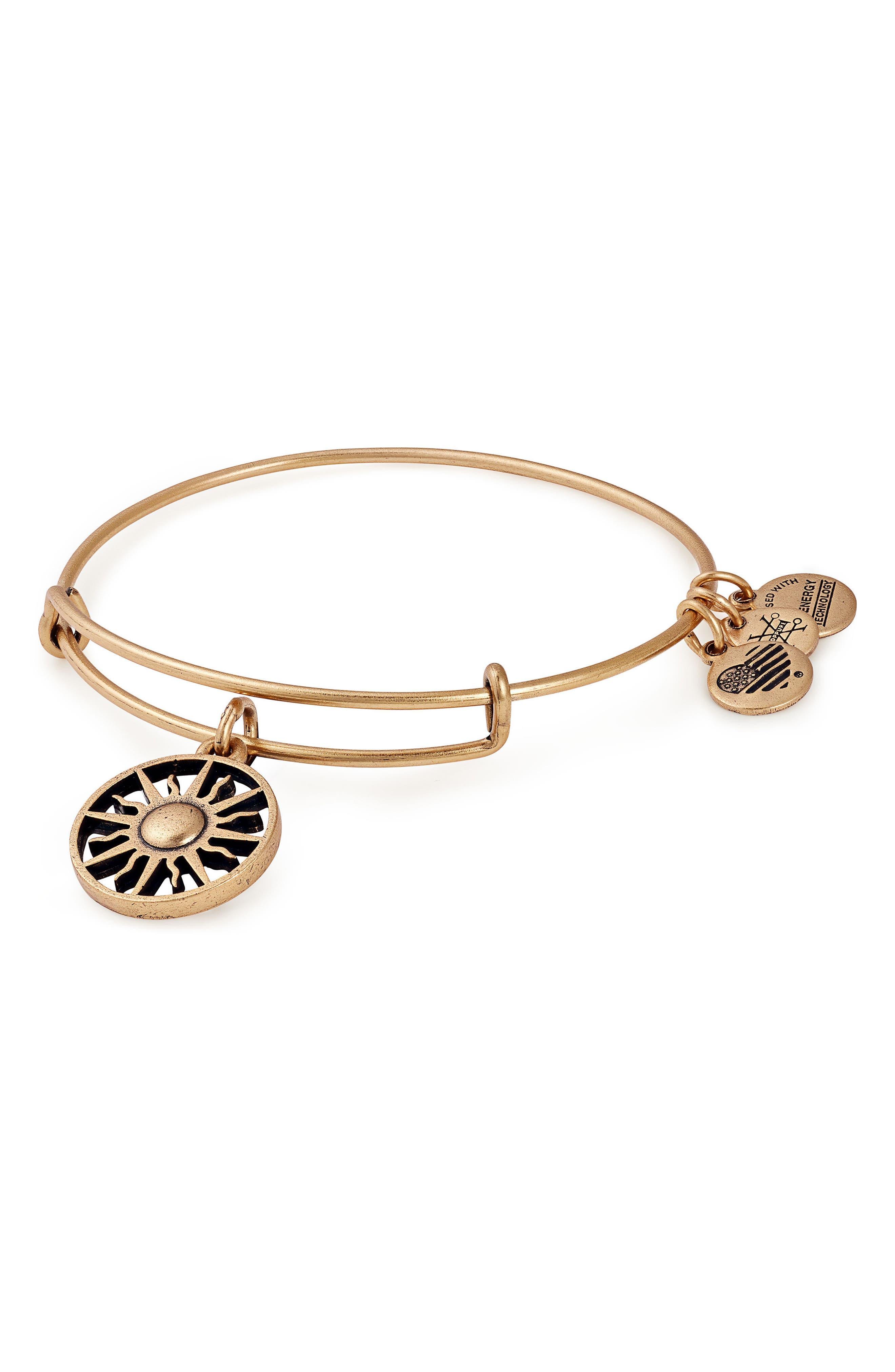 Rising Sun Charm Bracelet,                         Main,                         color, Gold