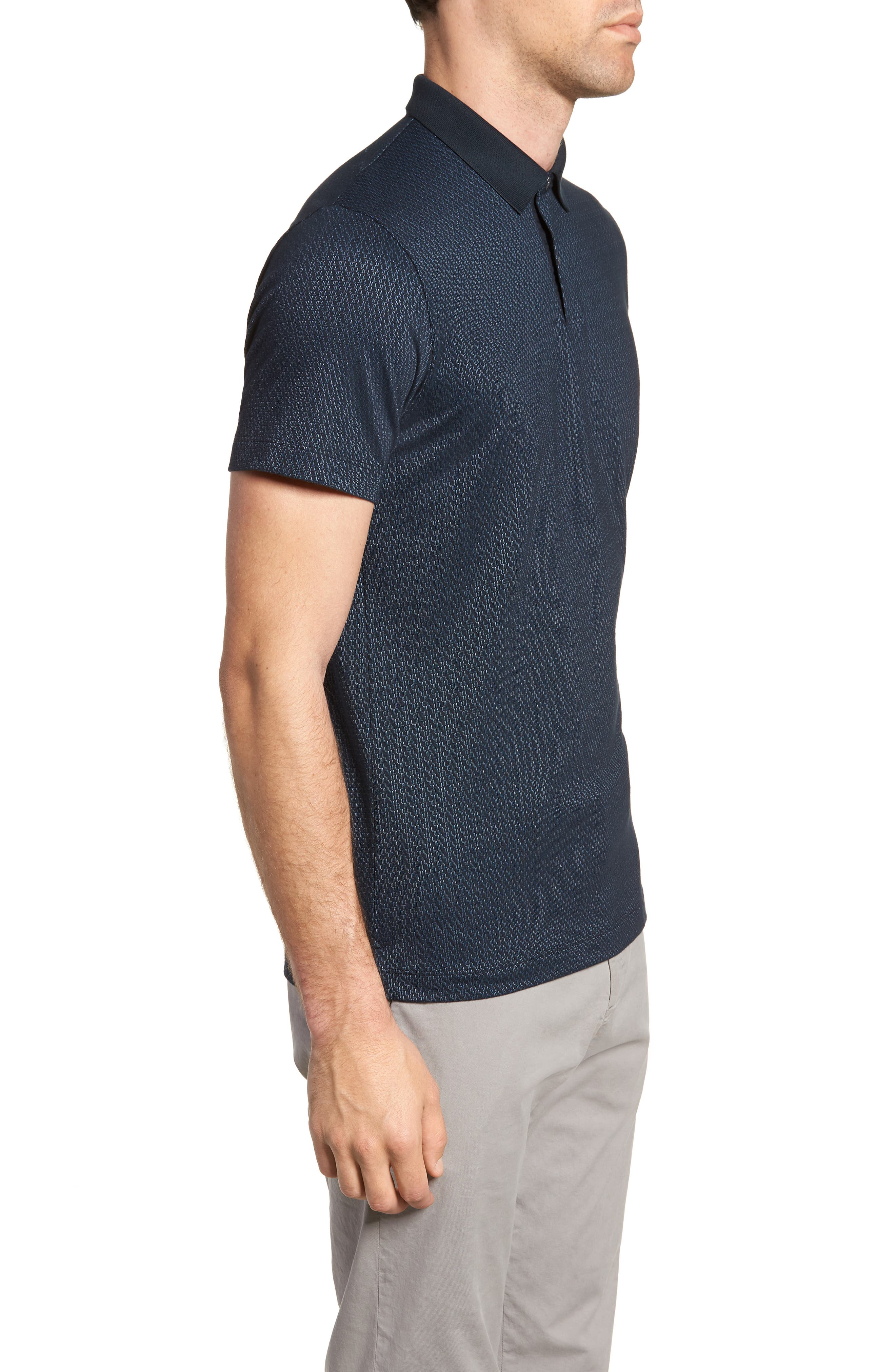 Bayliss Slim Fit Polo,                             Alternate thumbnail 3, color,                             Eclipse/ Hydro