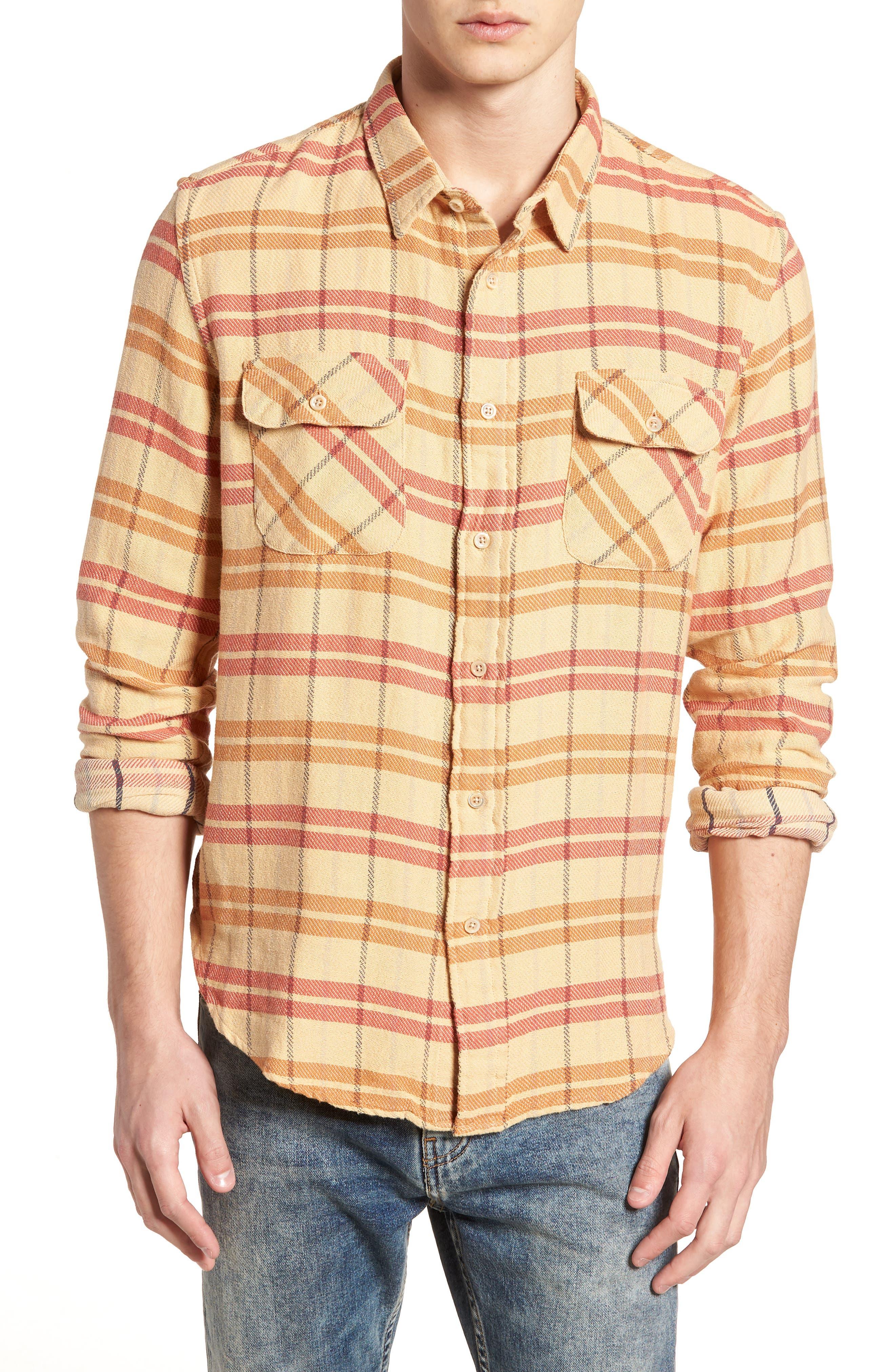 Shorthorn Western Shirt,                         Main,                         color, Sunfaded Orange