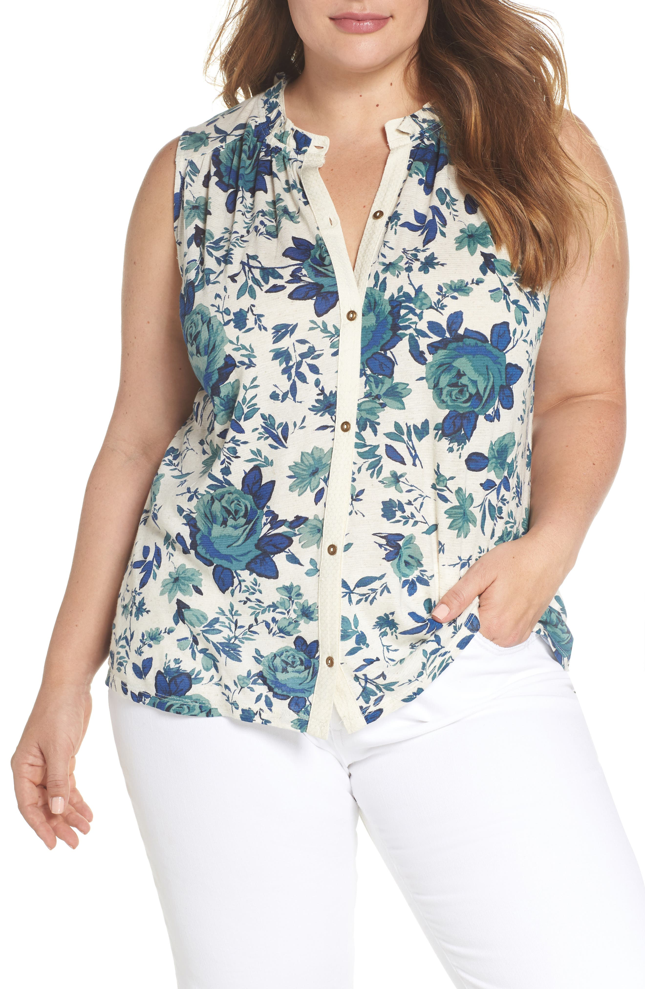 Lucky Brand Floral Tank (Plus Size)