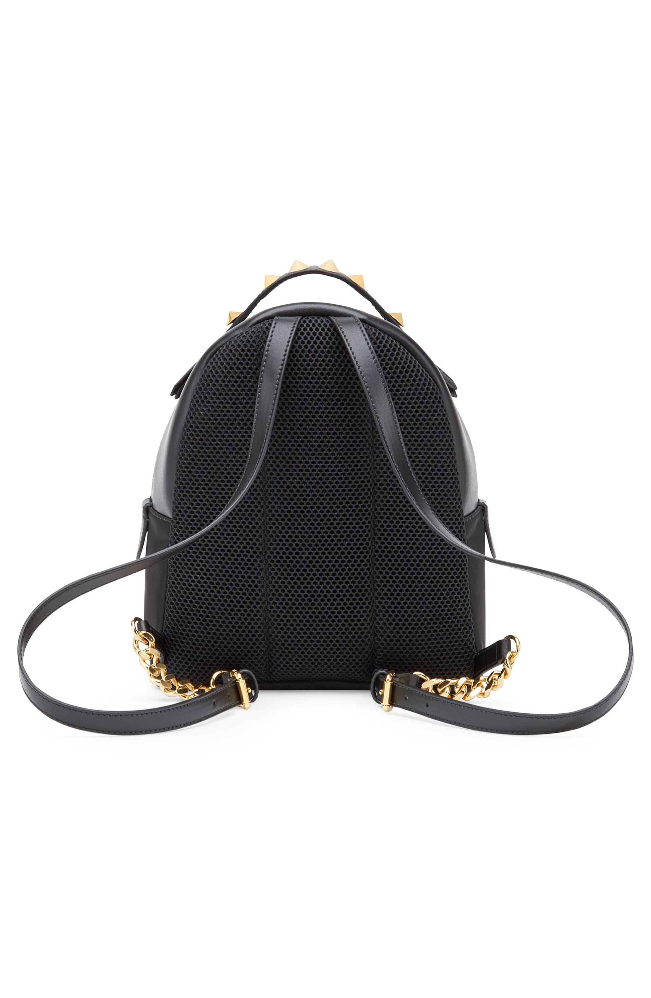 Mini Monster Nylon Backpack,                             Alternate thumbnail 2, color,                             Nero/ Oro Soft