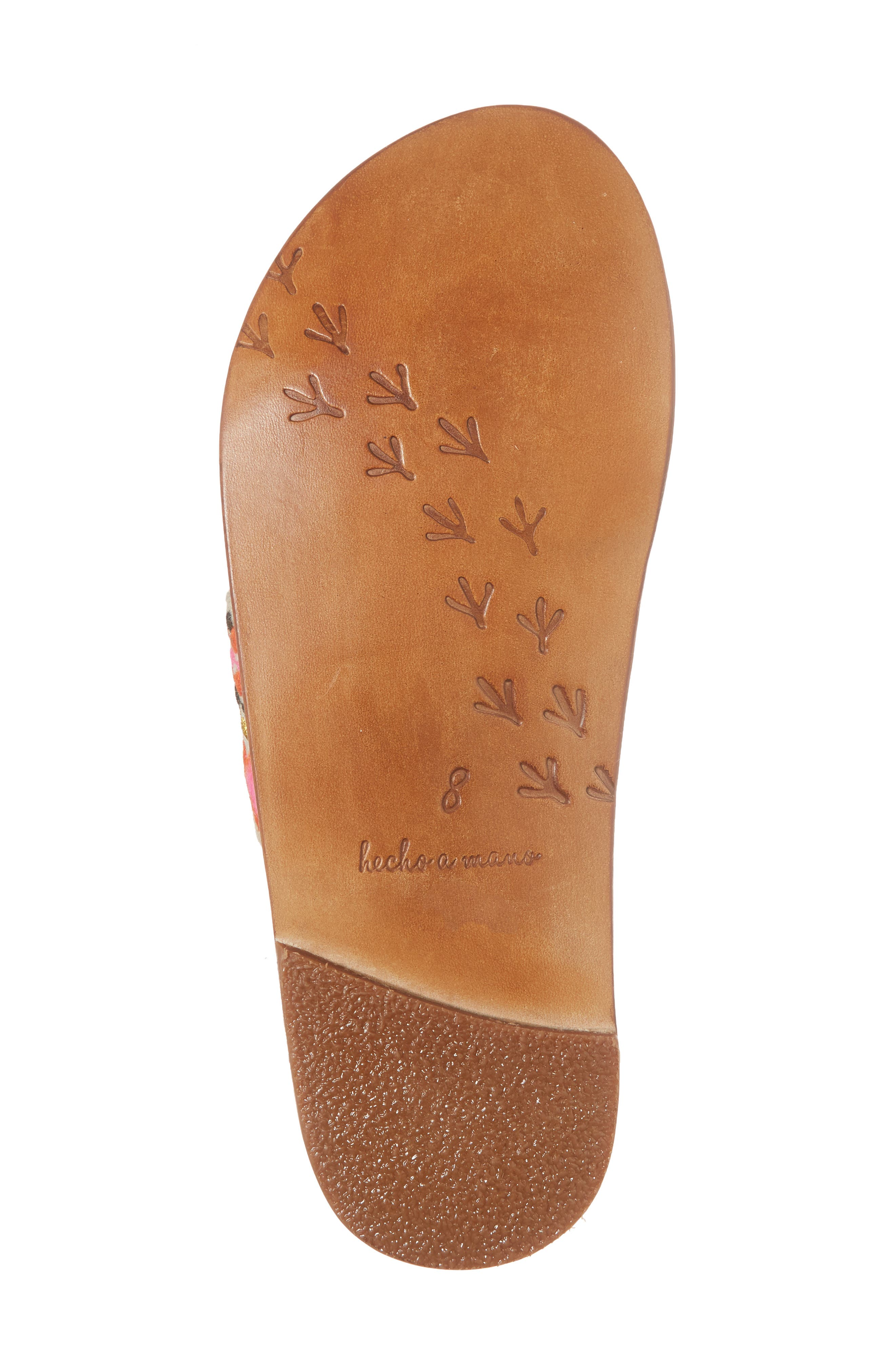Dove Sandal,                             Alternate thumbnail 6, color,                             Fuschia Multi/ Tan