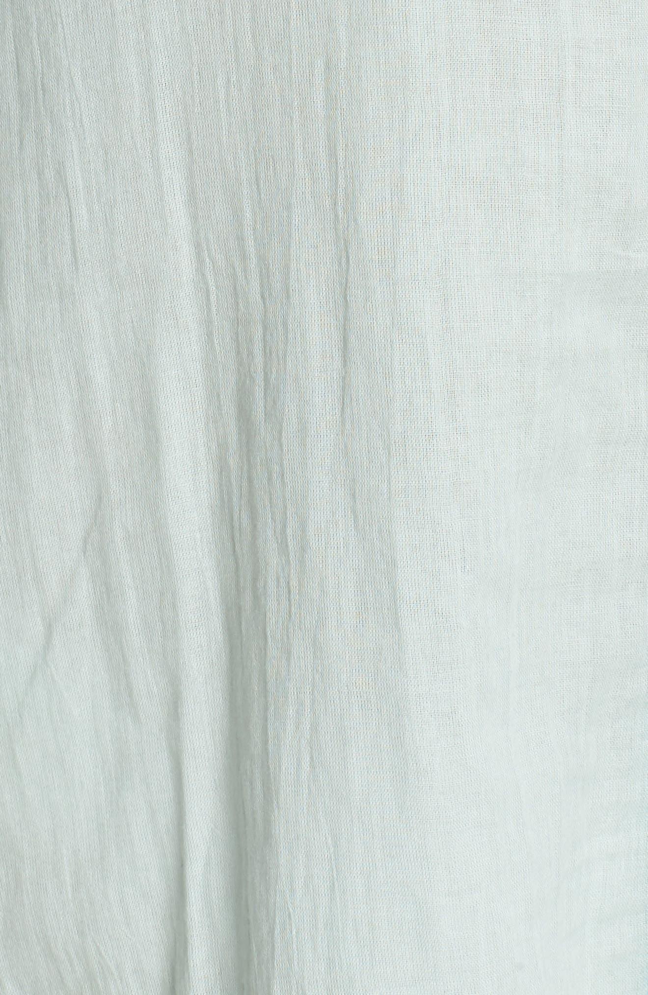Mini Ottoman Cover-Up Dress,                             Alternate thumbnail 5, color,                             Pale Blue