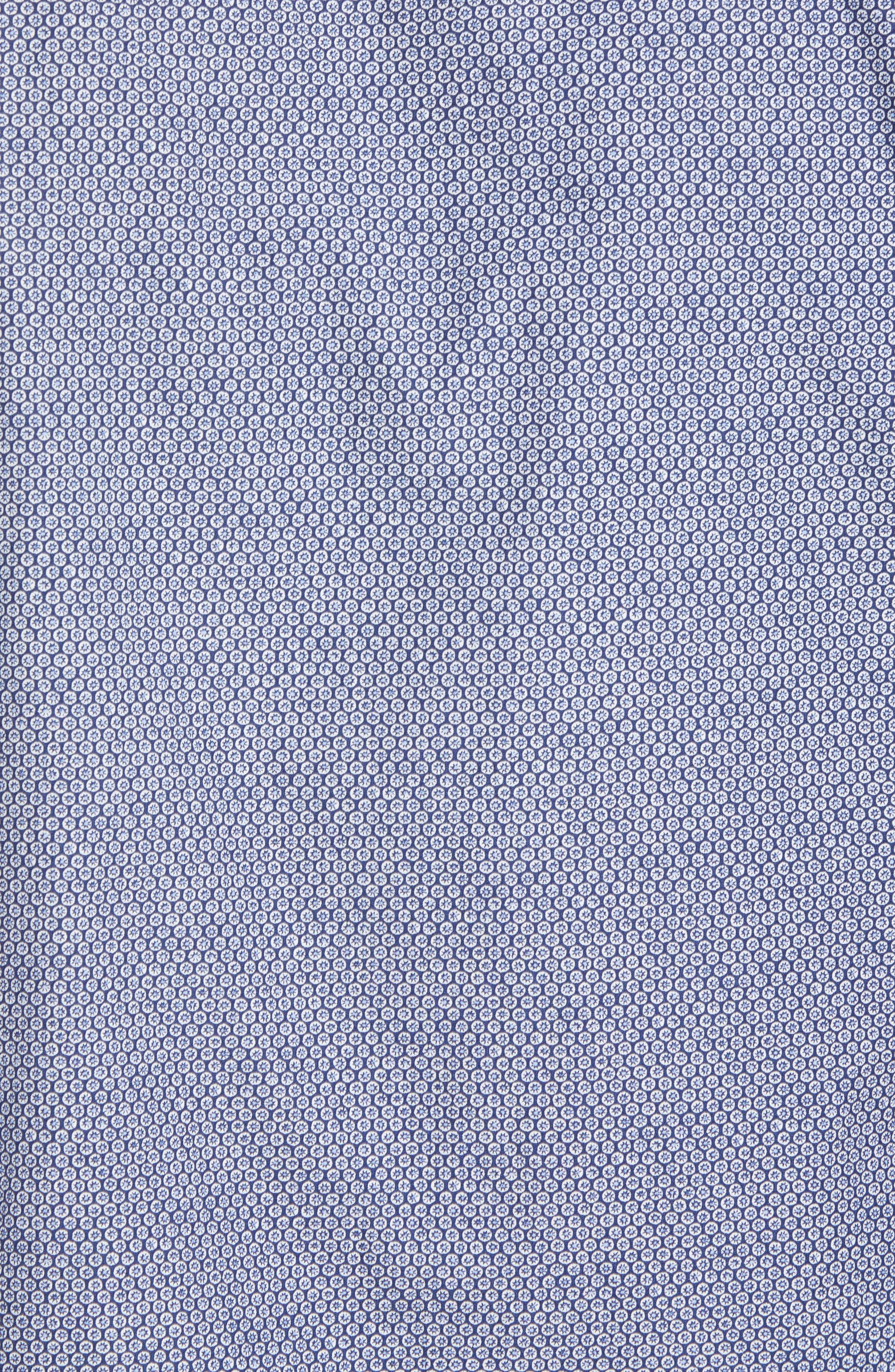 Beacon Point Regular Fit Sport Shirt,                             Alternate thumbnail 5, color,                             Navy