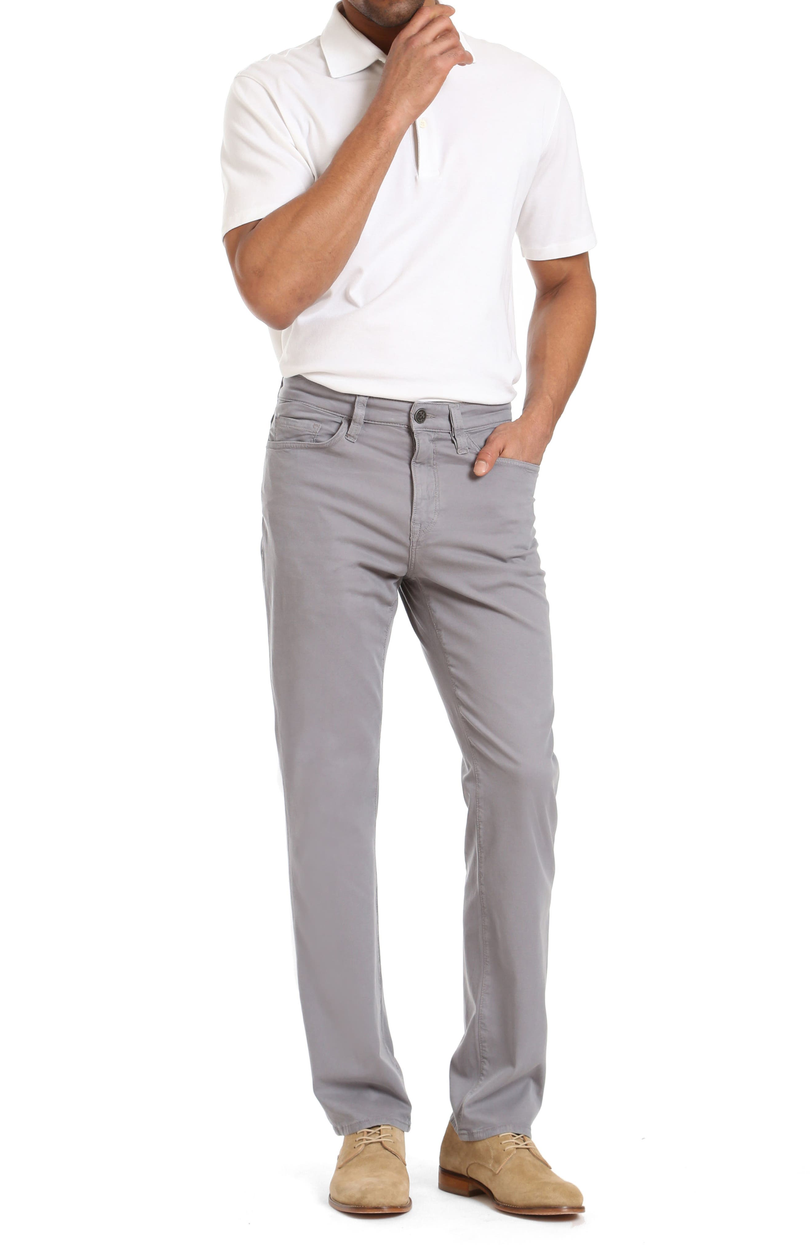 Charisma Relaxed Fit Twill Pants,                             Alternate thumbnail 4, color,                             Grey Fine Twill