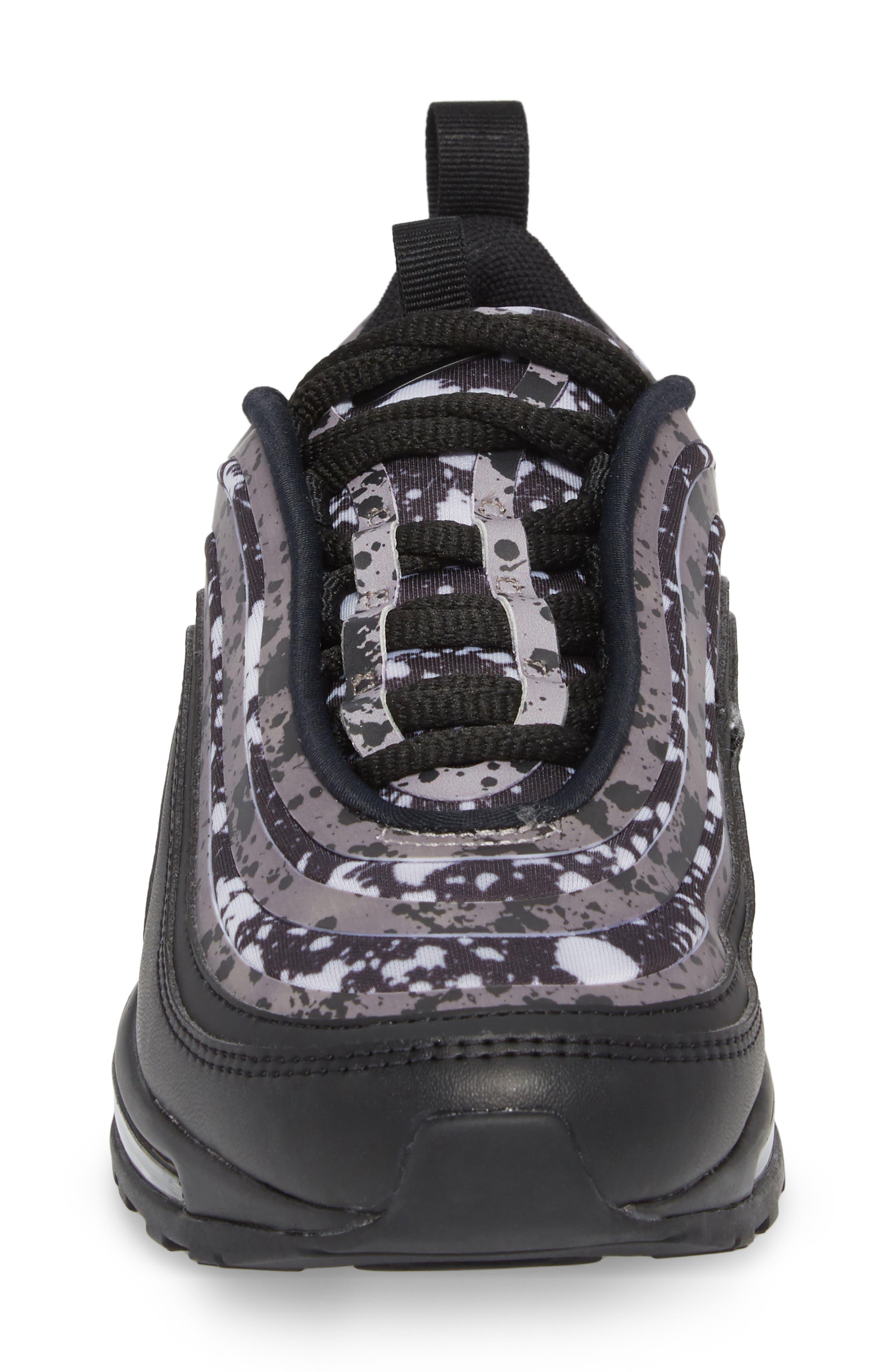 Air Max 97 Ultra '17 Premium Sneaker,                             Alternate thumbnail 4, color,                             Black/ Black-Vast Grey
