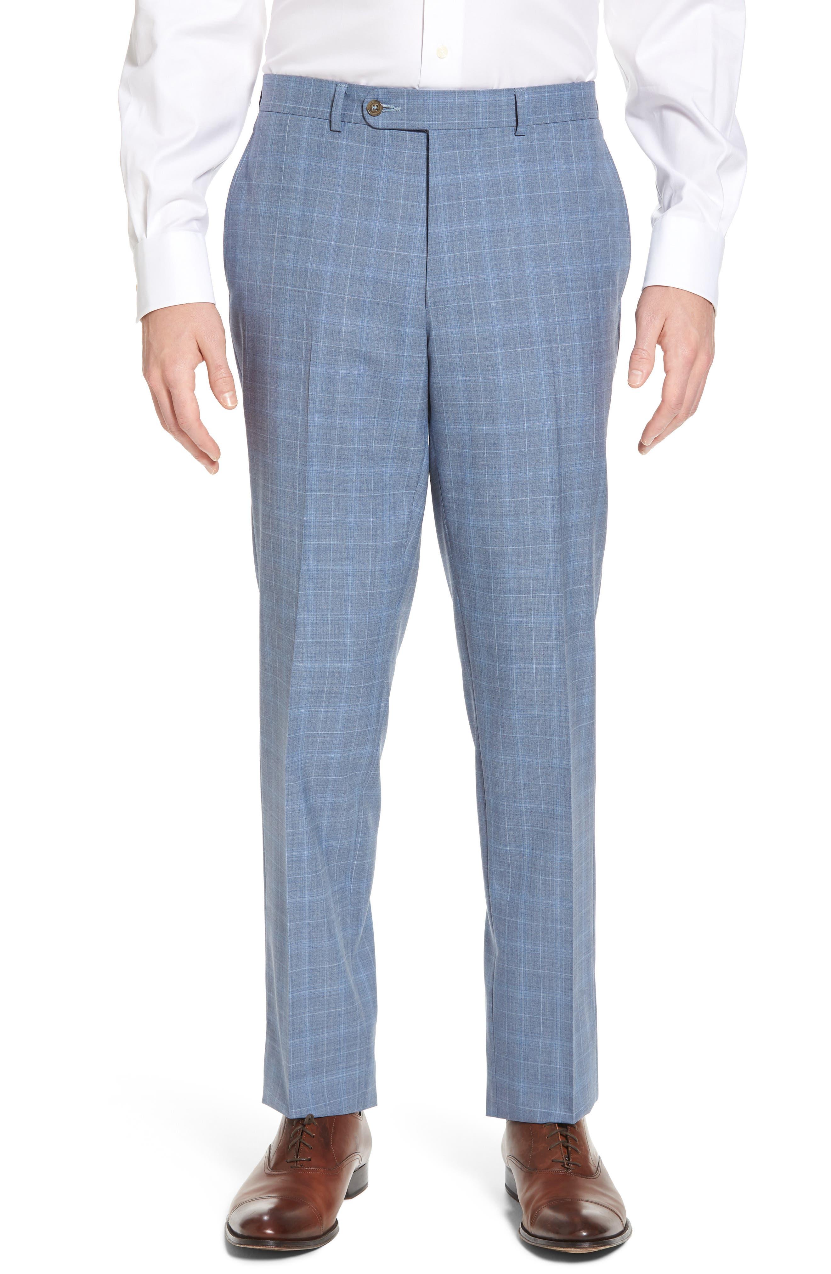 Ryan Classic Fit Plaid Wool Suit,                             Alternate thumbnail 6, color,                             Blue