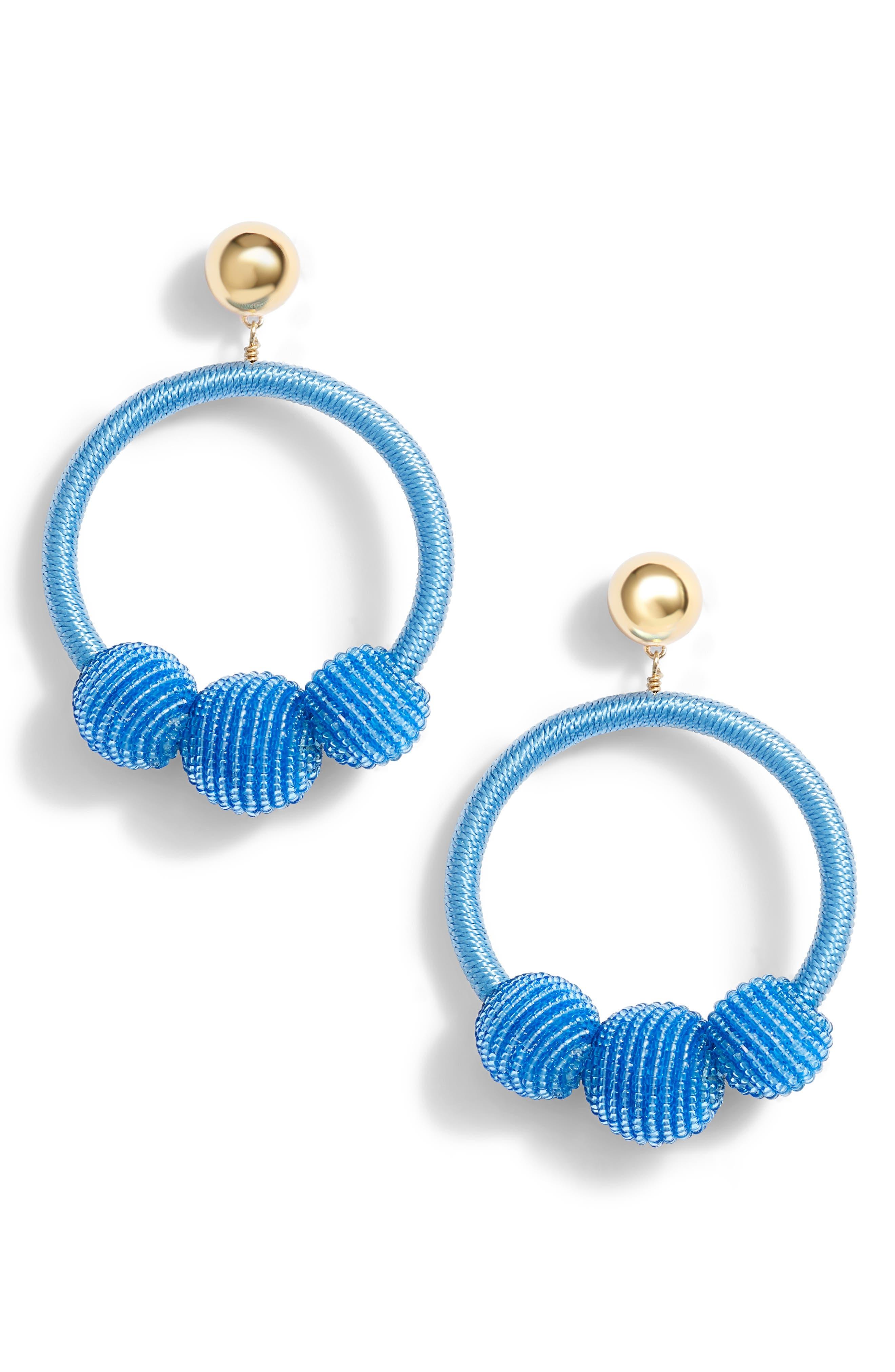 kate spade new york the bead goes on hoop statement earrings