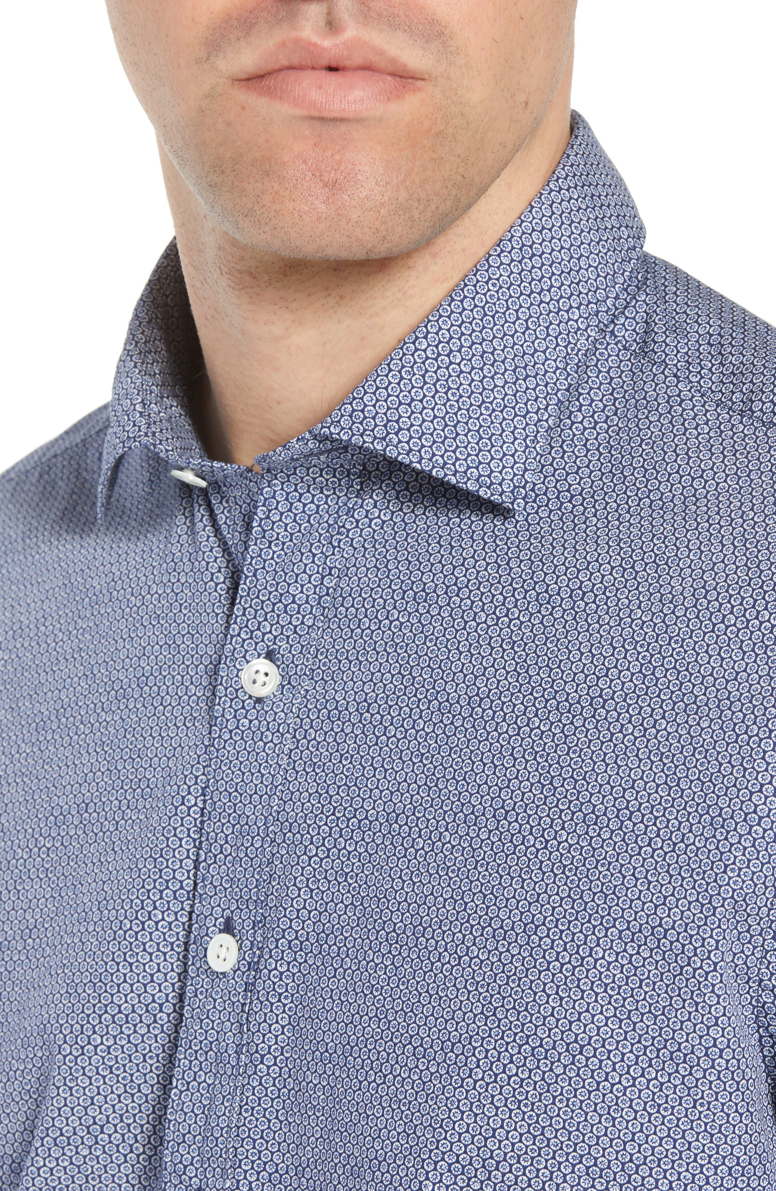 Beacon Point Regular Fit Sport Shirt,                             Alternate thumbnail 2, color,                             Navy