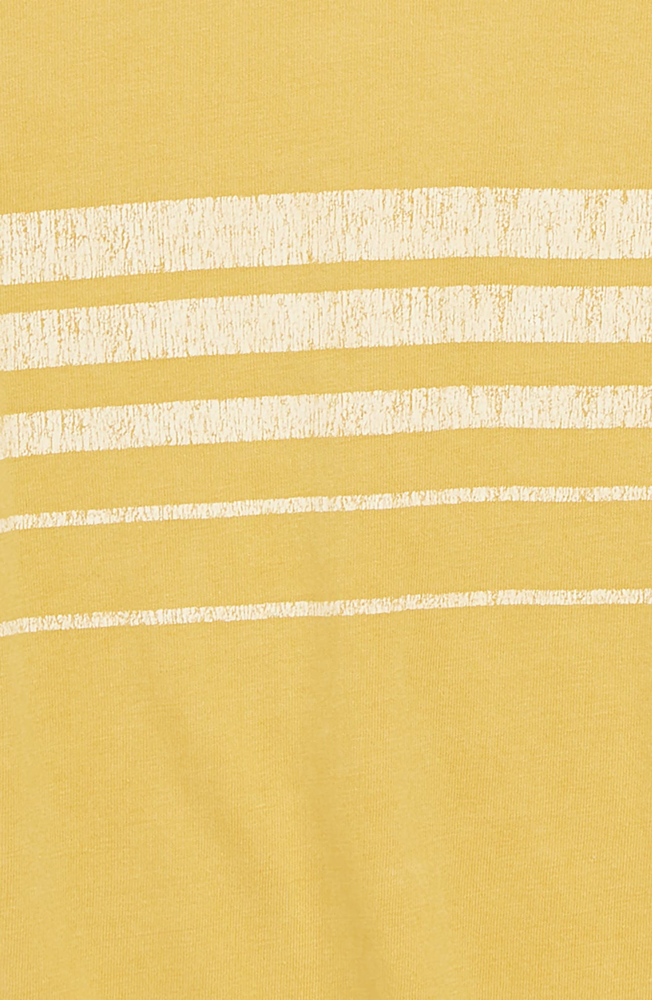 Stripe Tee,                             Alternate thumbnail 2, color,                             Yellow Mineral