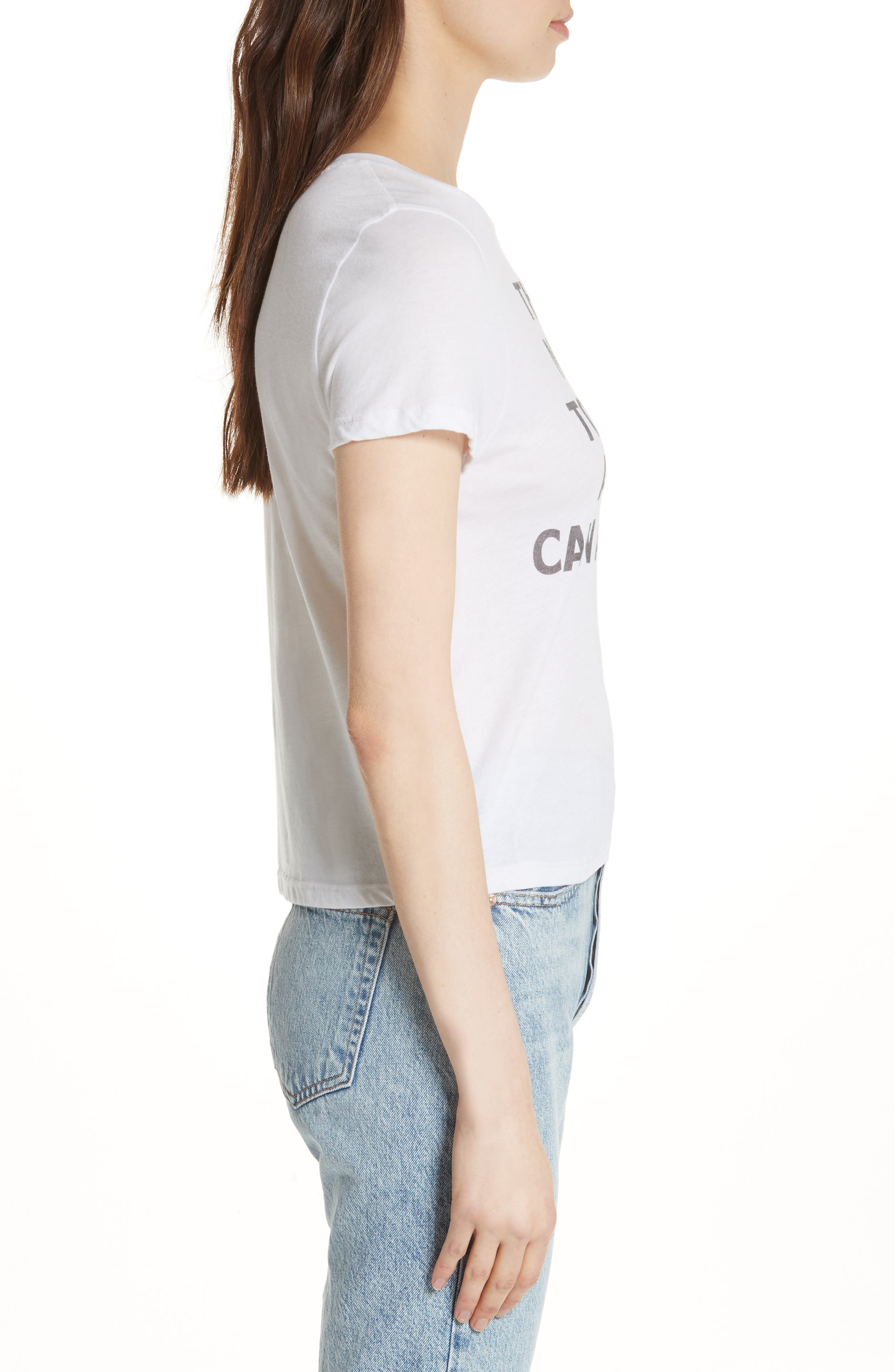 AO.LA Cicely Graphic Tee,                             Alternate thumbnail 3, color,                             White / Black