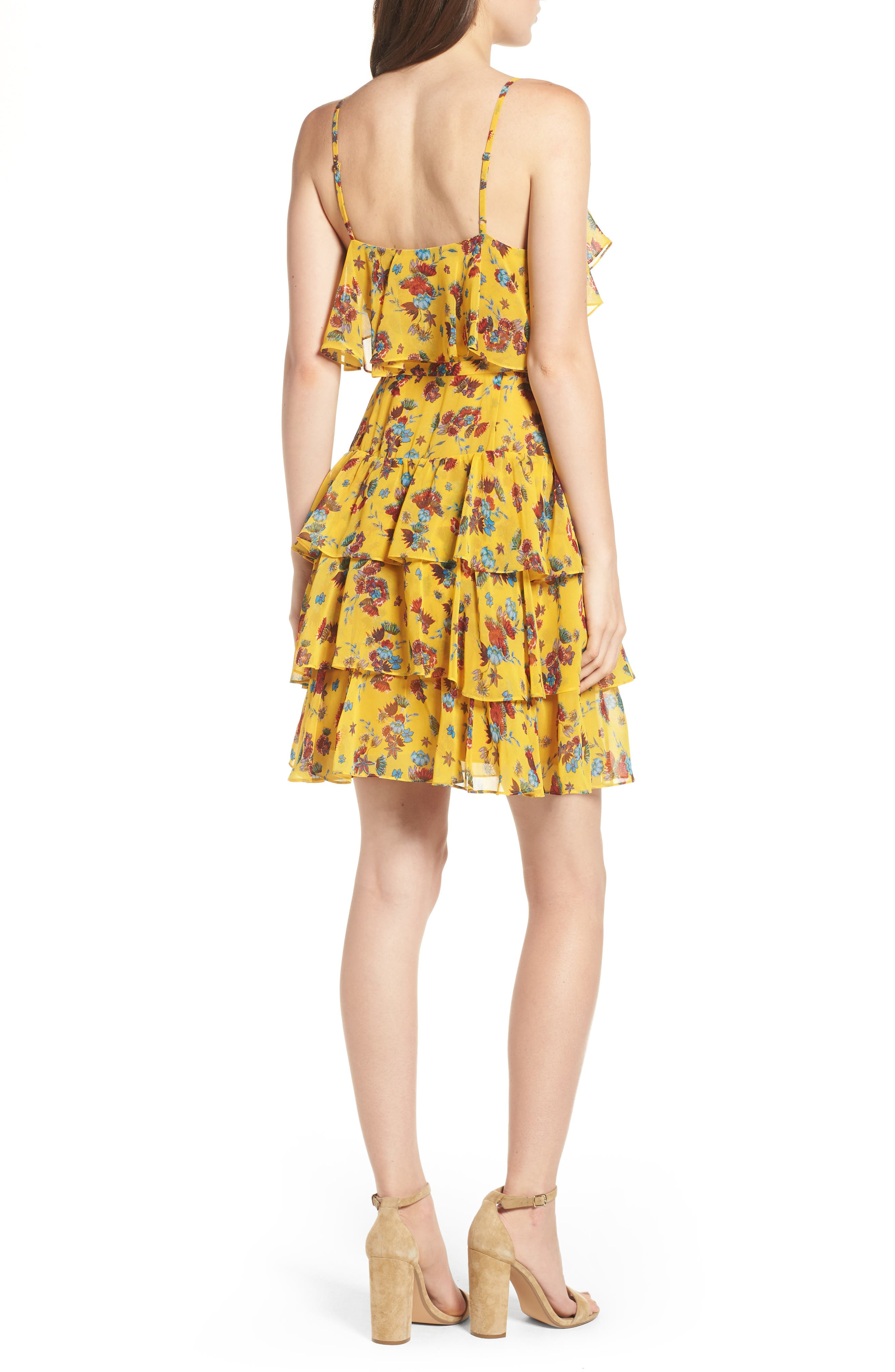 Marla Dress,                             Alternate thumbnail 2, color,                             Yellow Multi