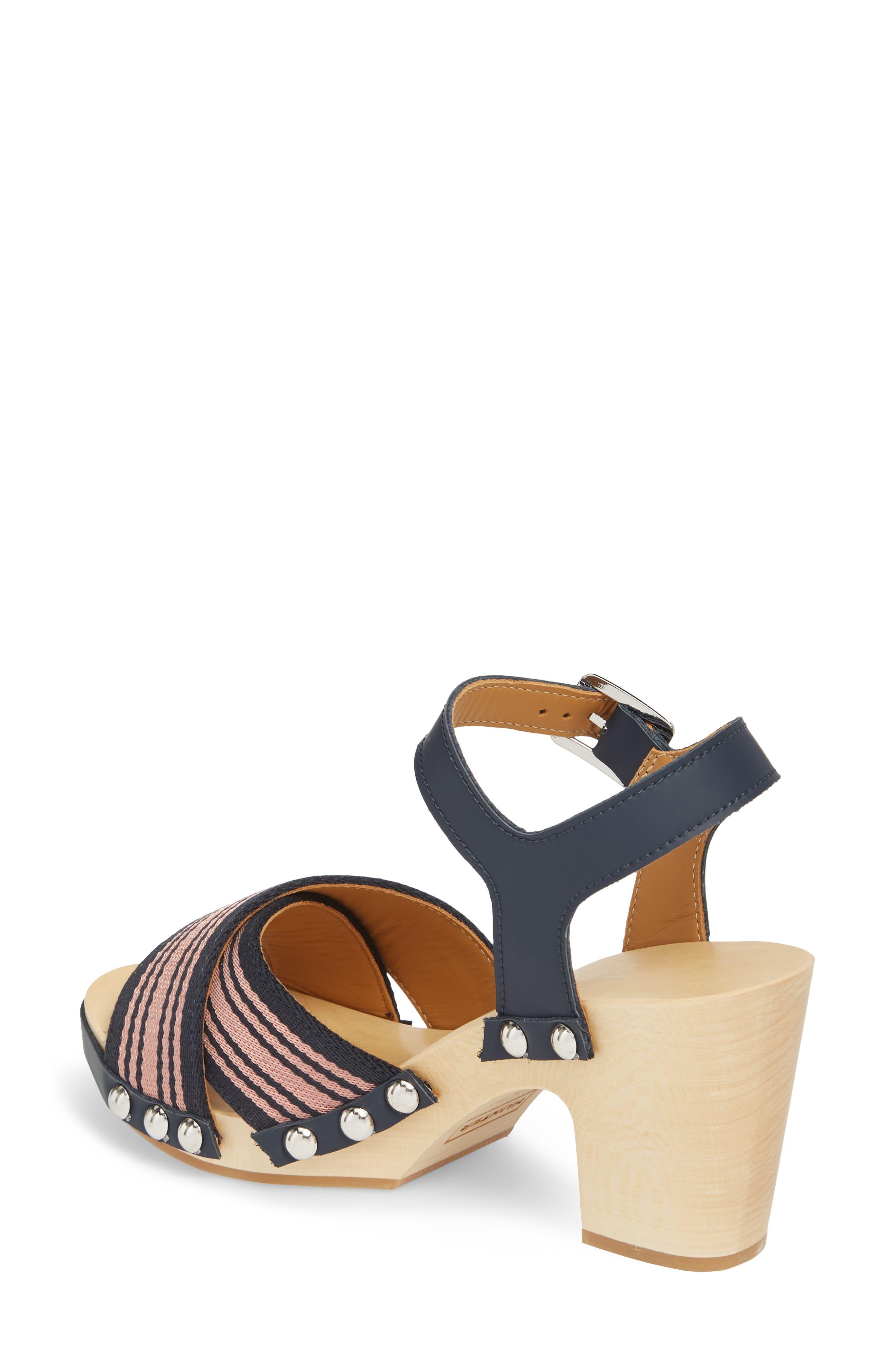Crisscross Sandal,                             Alternate thumbnail 2, color,                             Navy/ Pale Rose