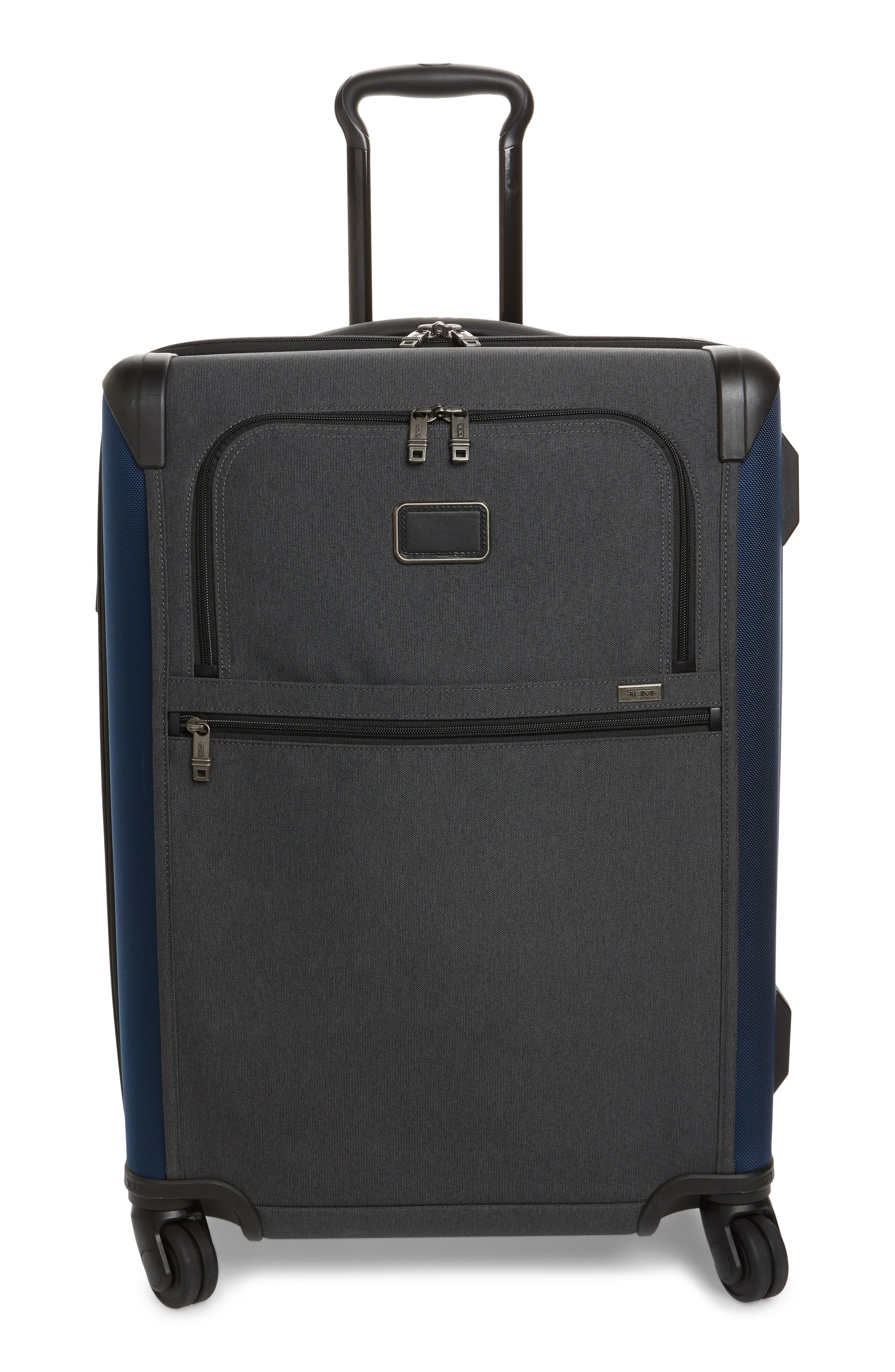 ALPHA 2 SHORT TRIP 26-INCH FOUR WHEEL PACKING CASE - BLUE