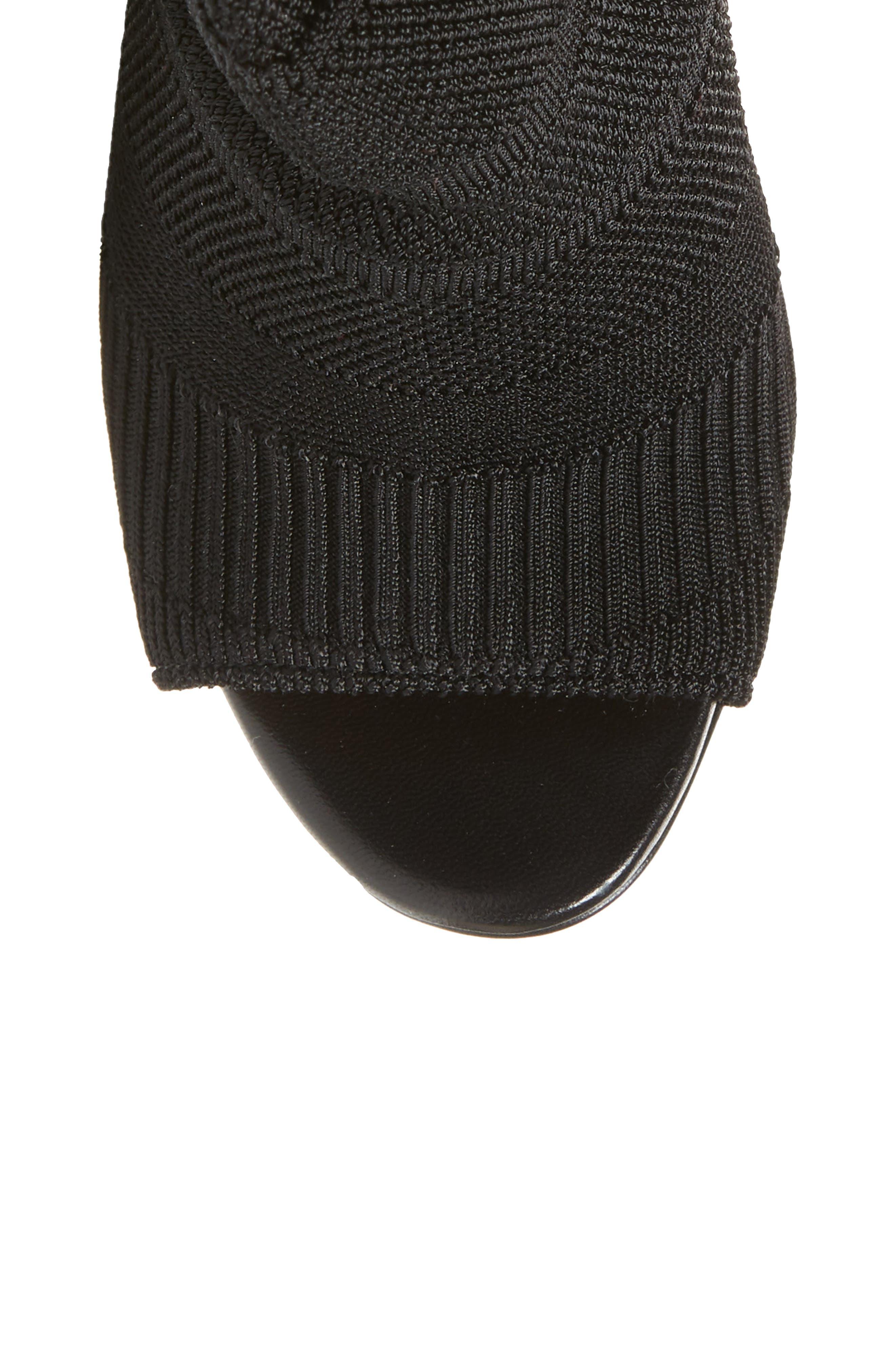 Cheminetta Over the Knee Sock Sandal,                             Alternate thumbnail 5, color,                             Black