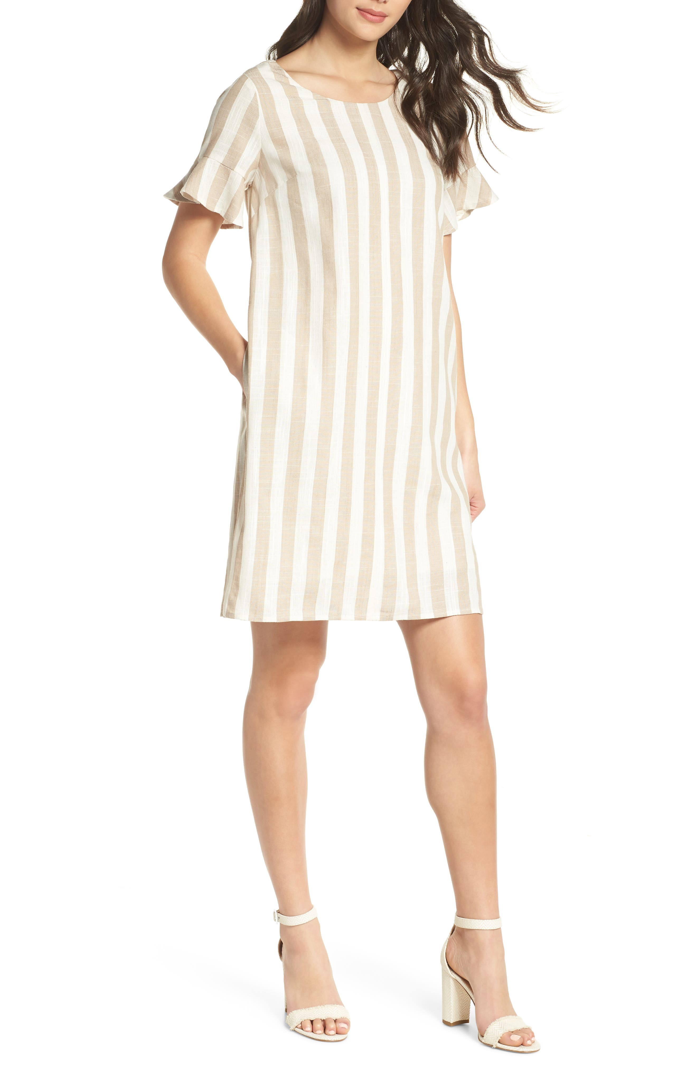 First Monday Back Tie Detail Shift Dress
