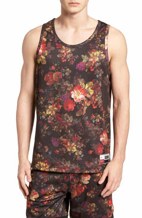 28ea416a10361c Nike Dry Reversible Floral Mesh Tank